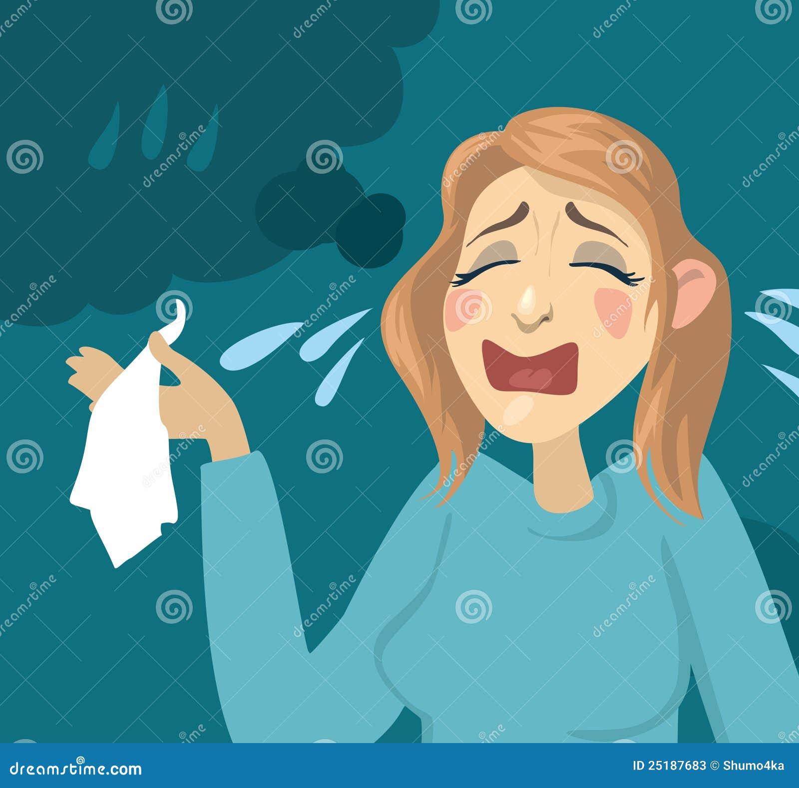 Kreskówki dziewczyny płacz