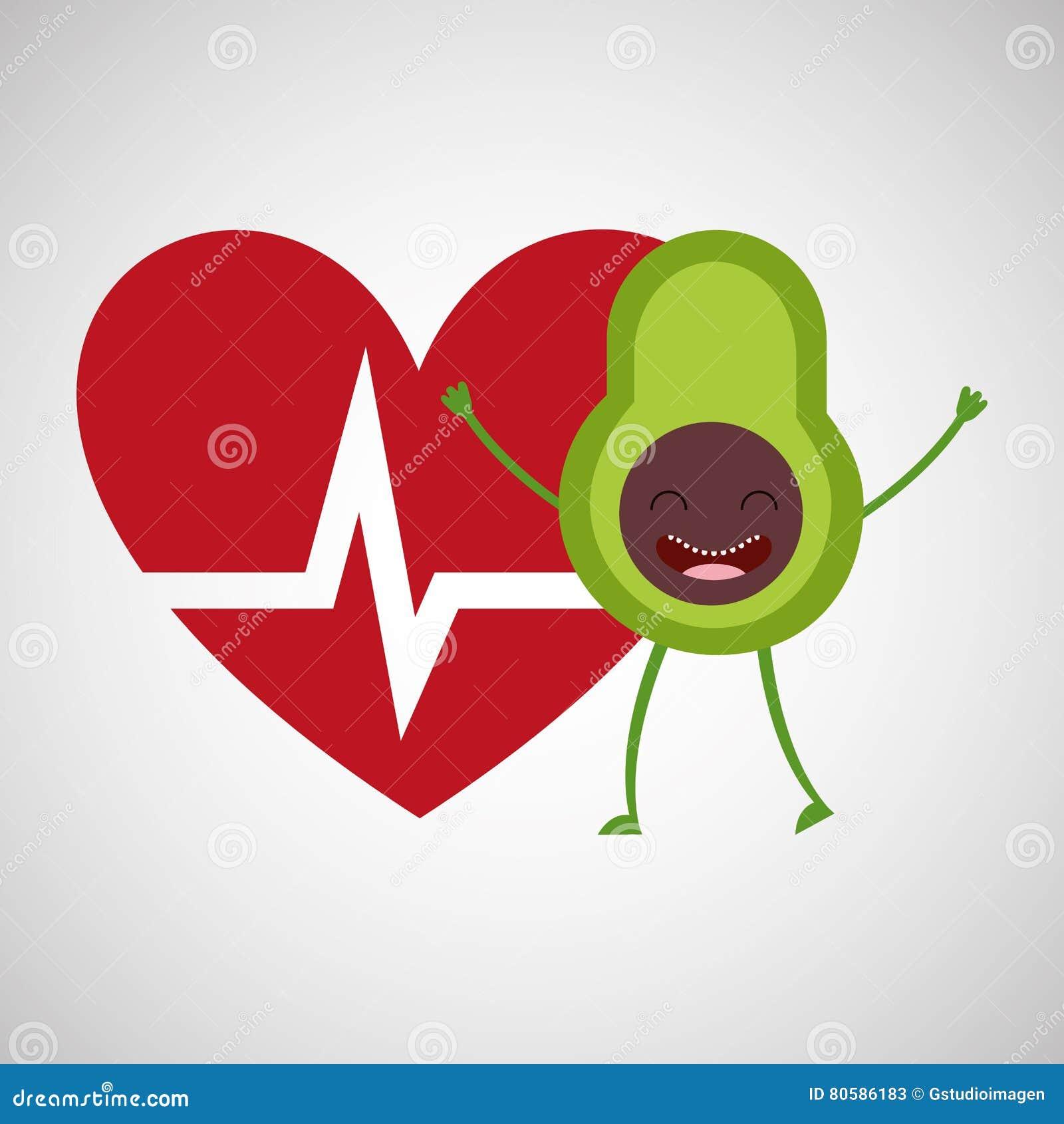 Kreskówki heartrate avocado owoc