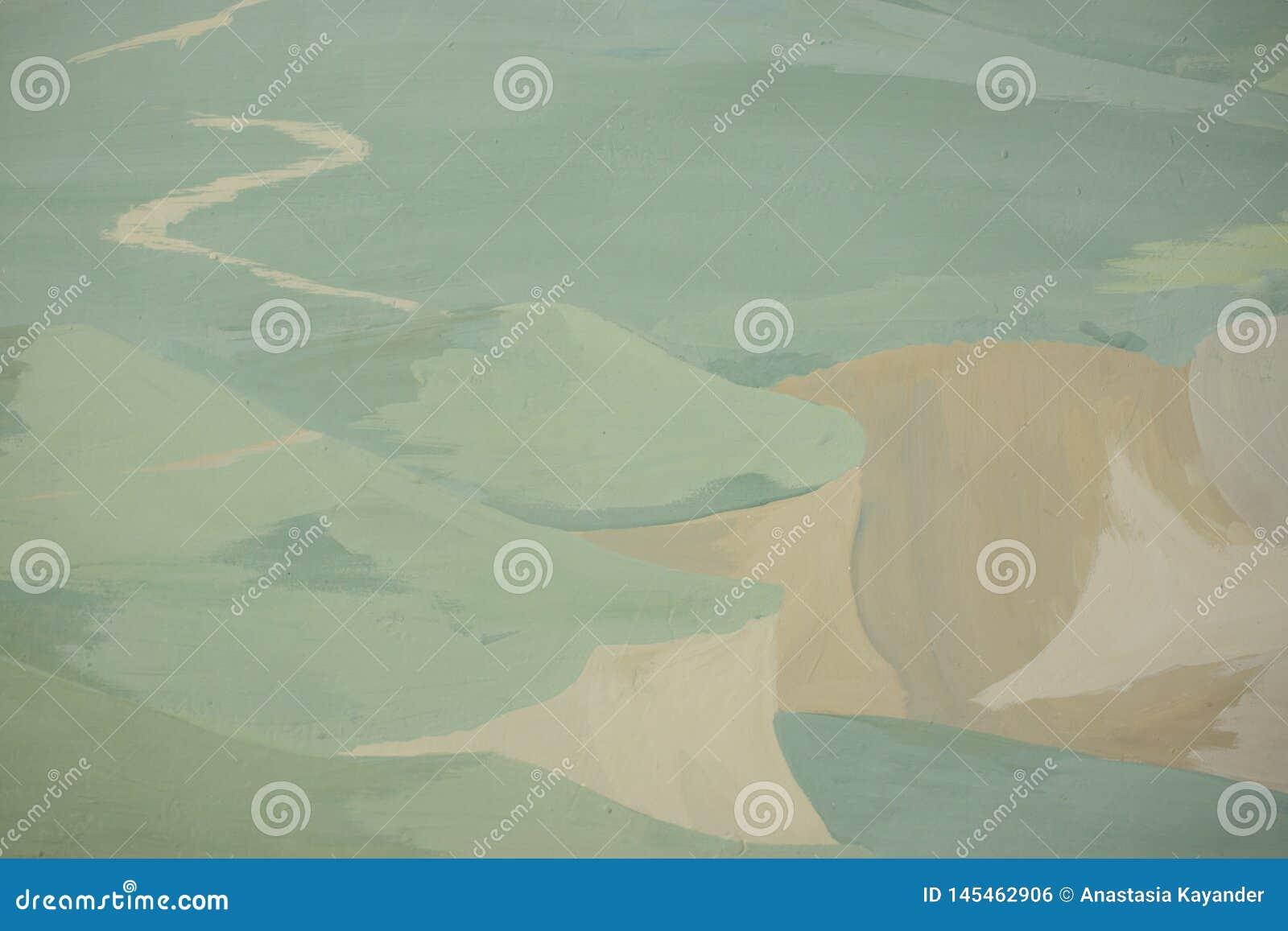 Kreskówki ilustracja piękny sceniczny z droga przemian horyzont