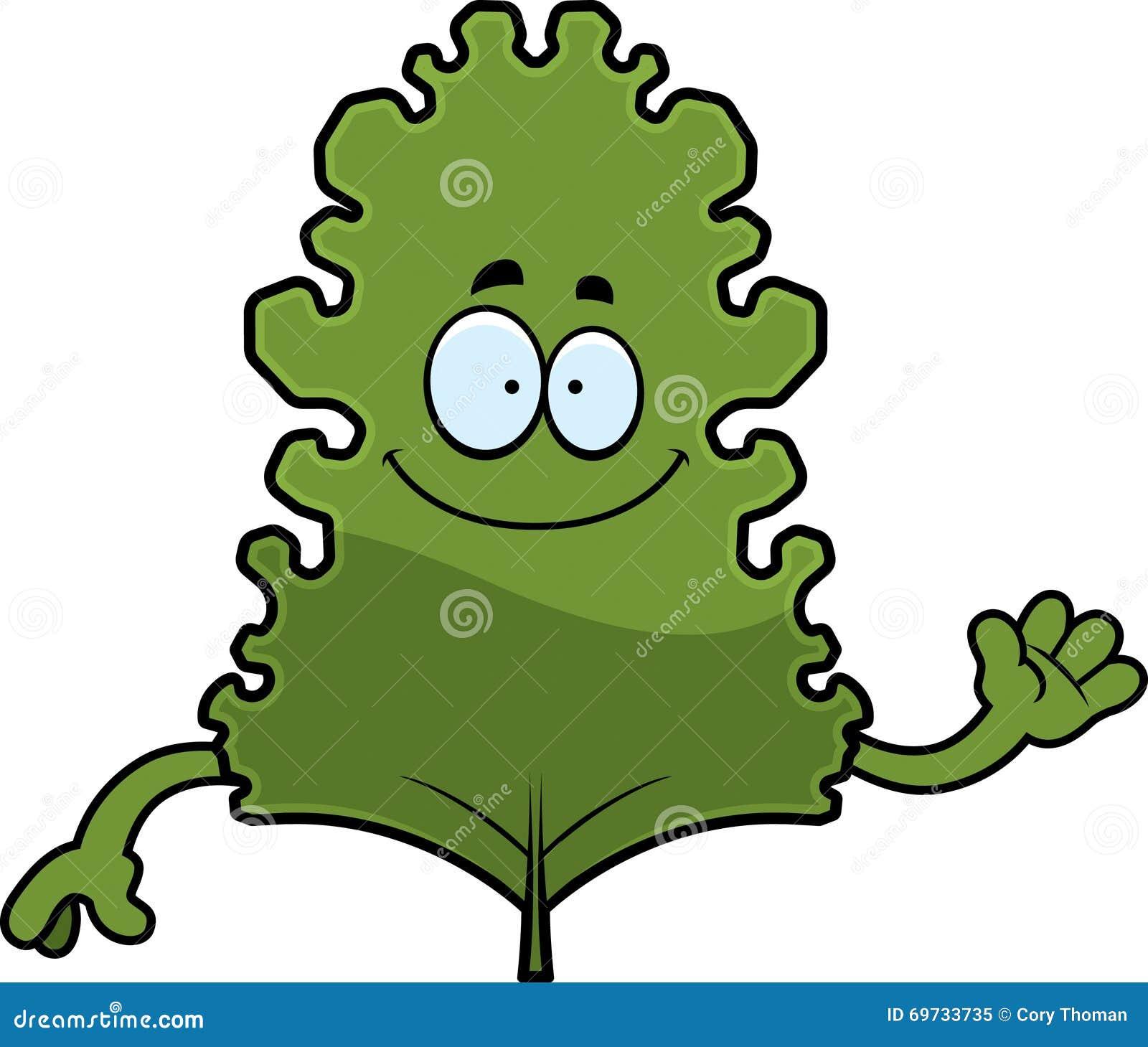 Kreskówki Kale liścia falowanie