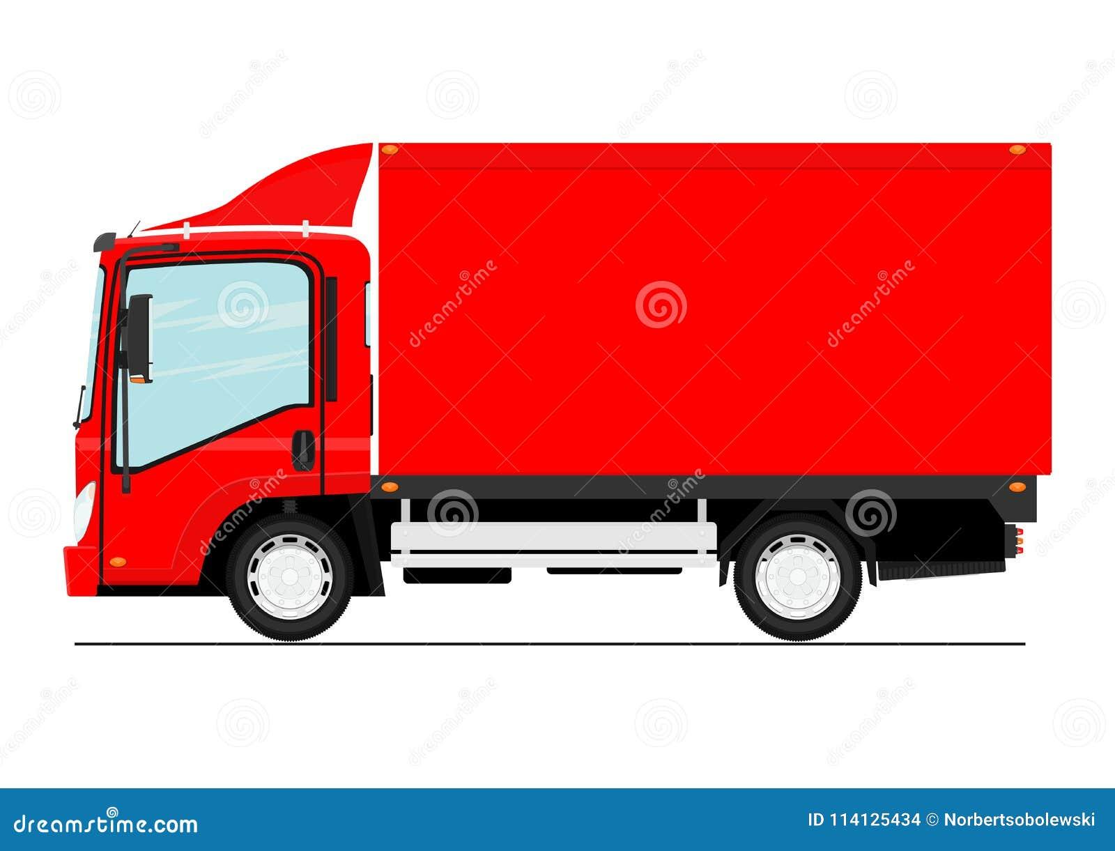 Kreskówki mała ciężarówka