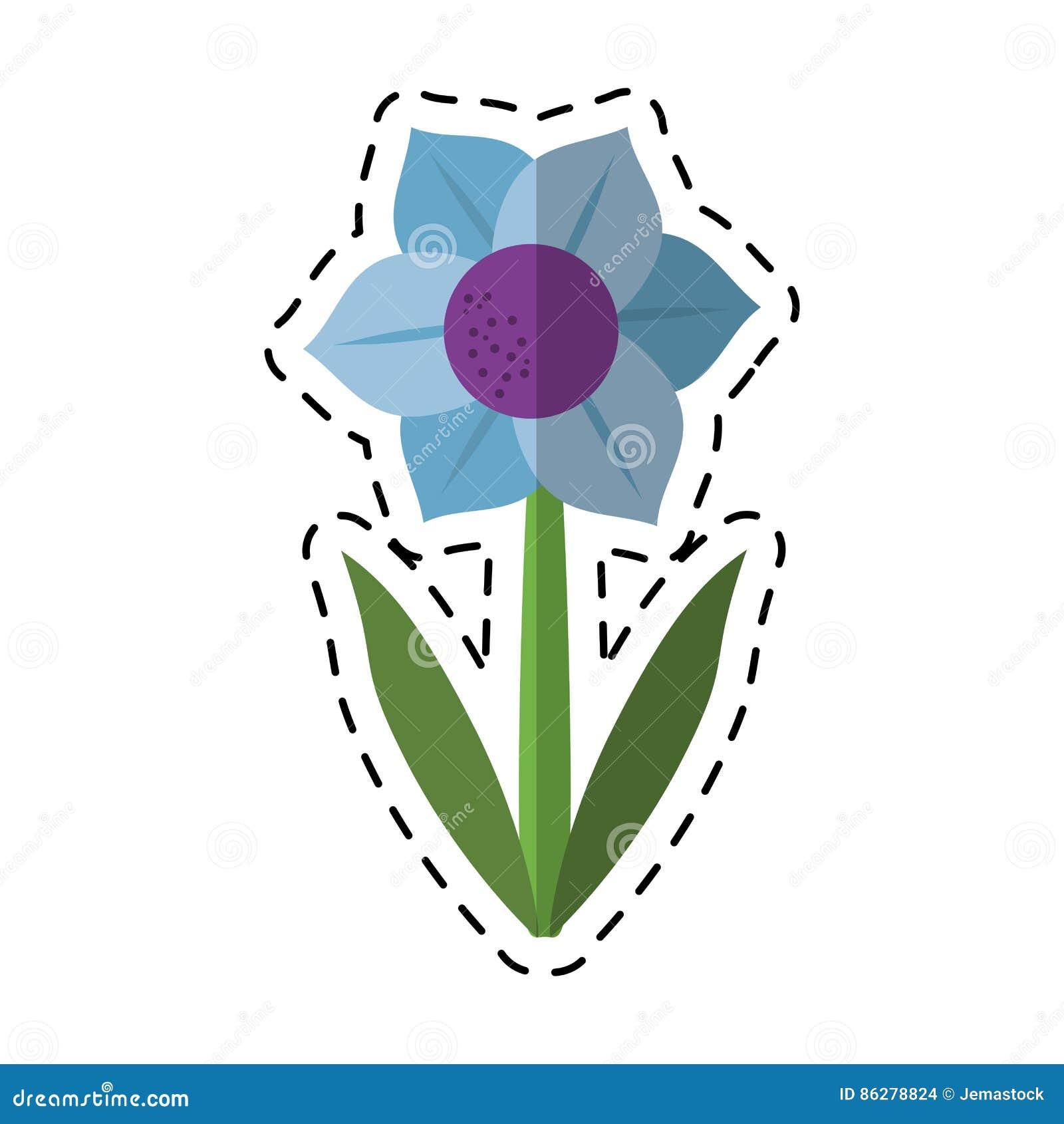 Kreskówki Mona Lisa błękitny kwiat naturalny