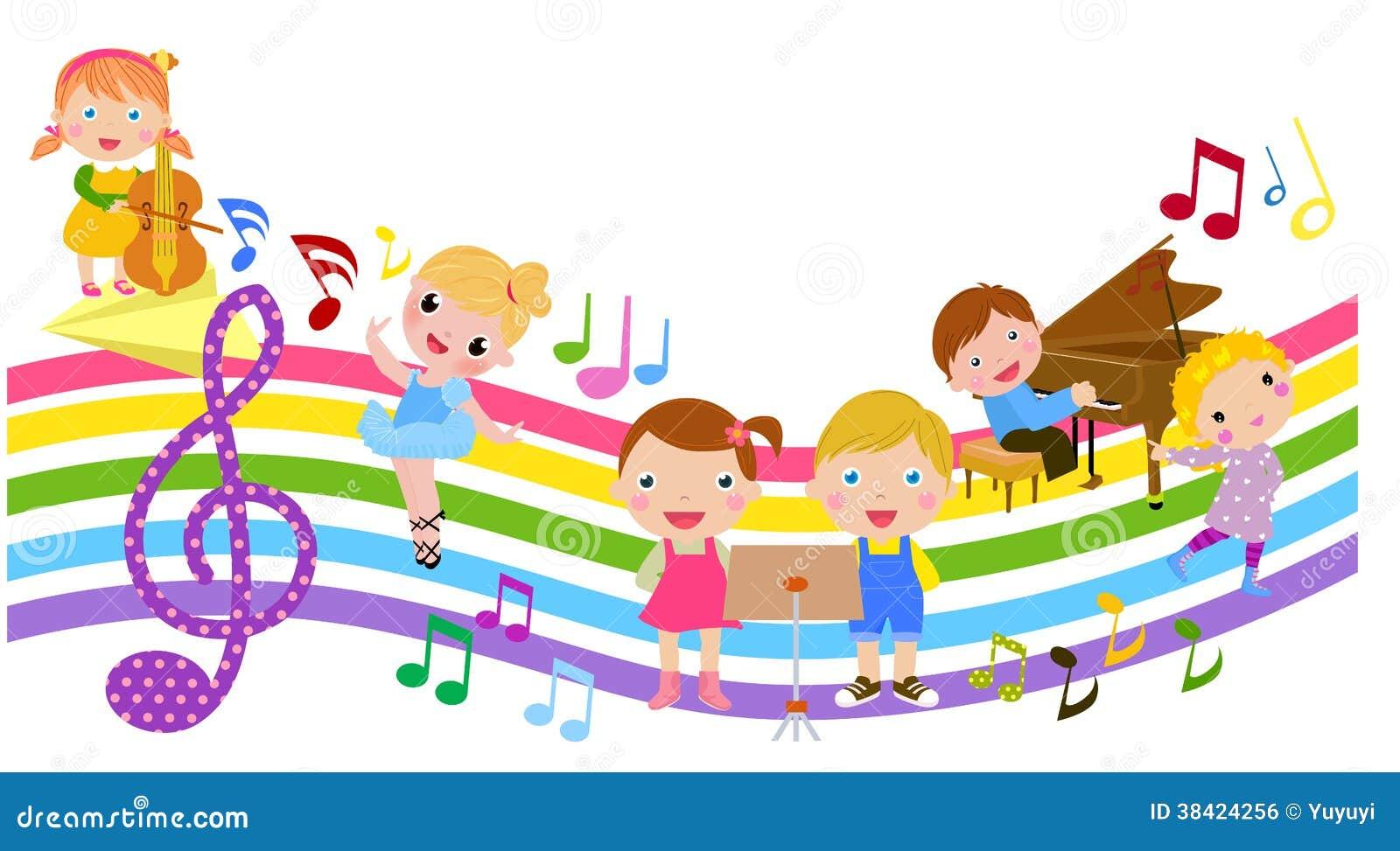 Kreskówki muzyka i dzieci