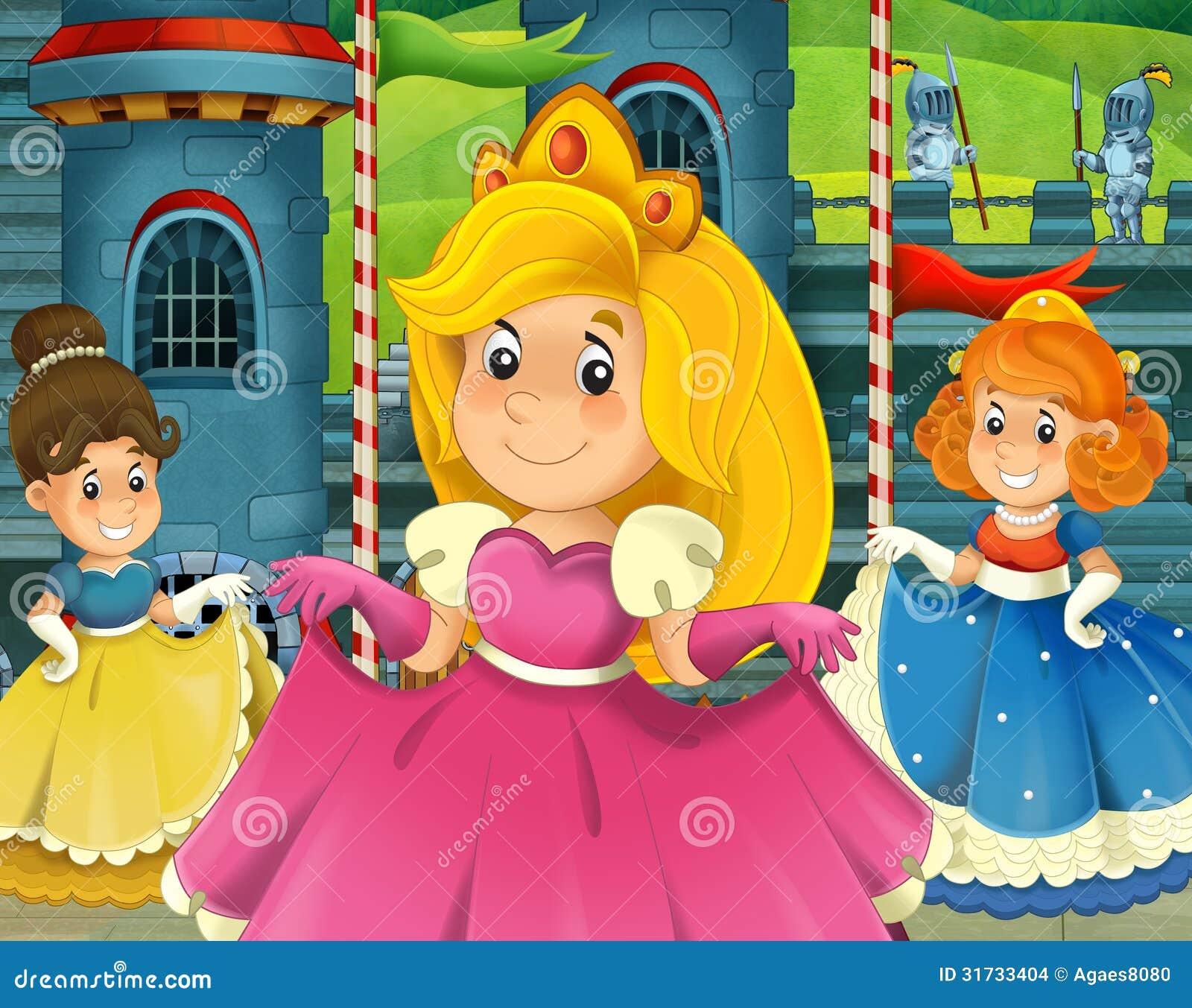 Kreskówki princess - średniowieczni czasy