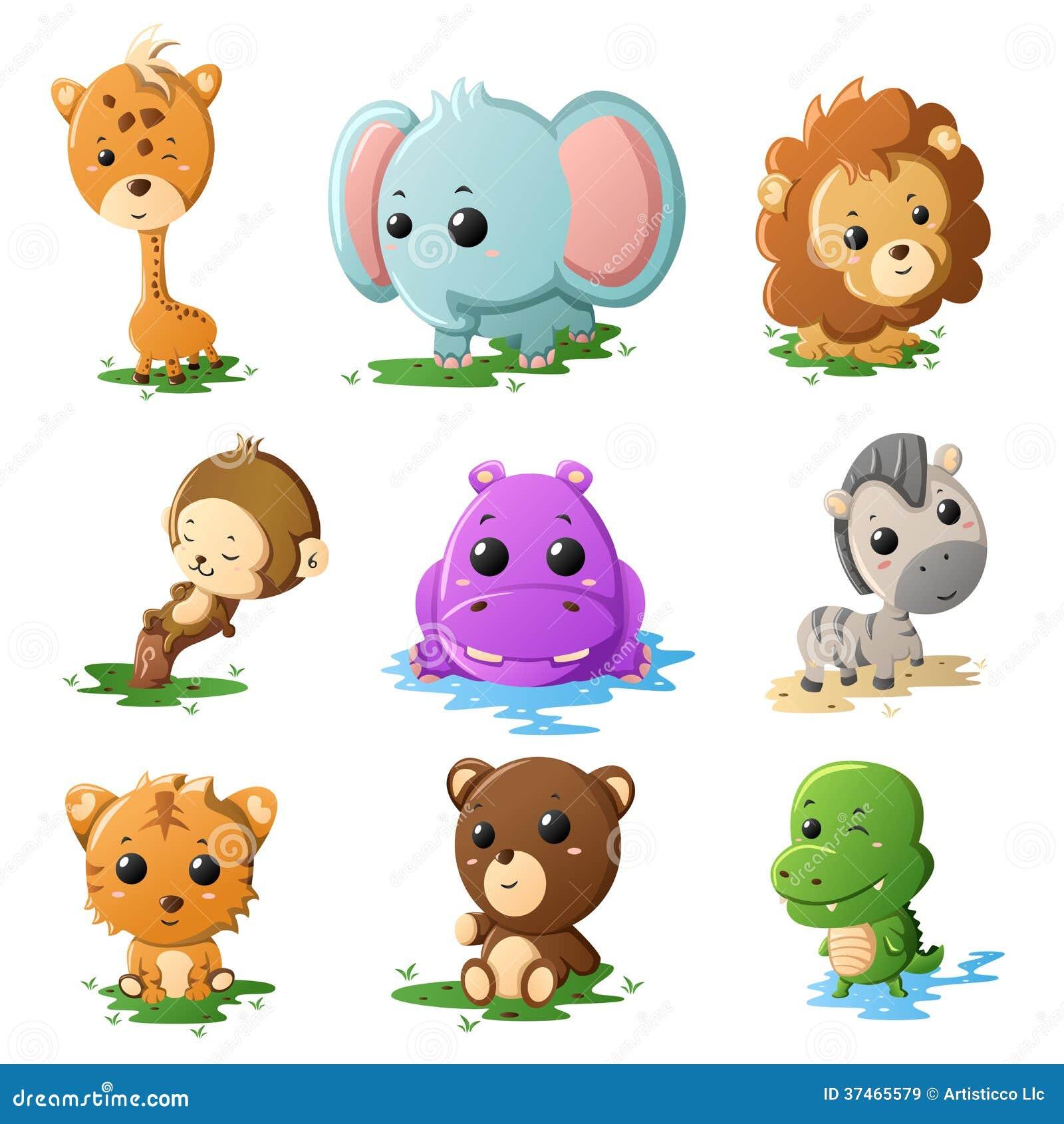 Kreskówki przyrody zwierzęcia ikony