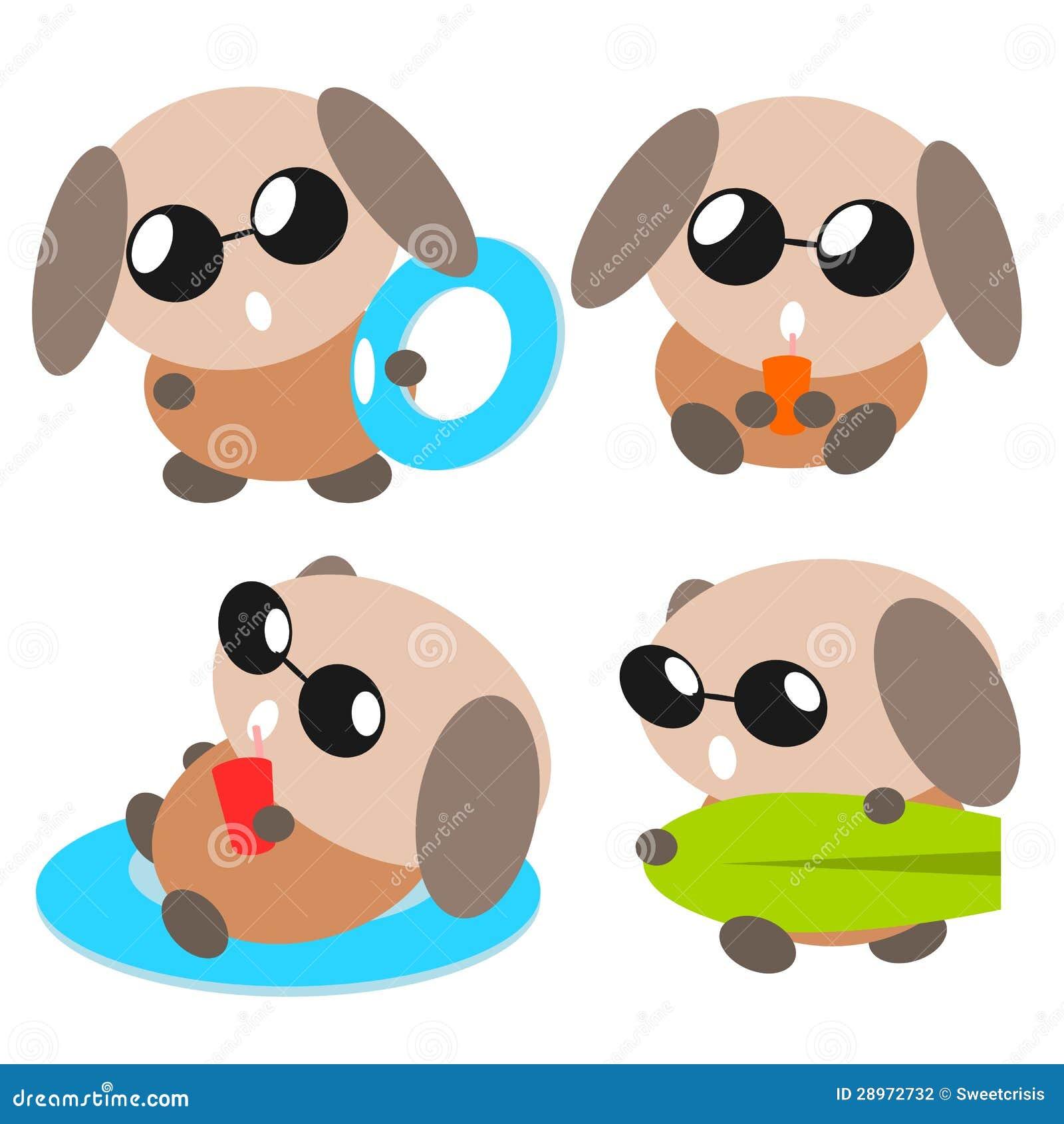 Kreskówki psia ilustracja