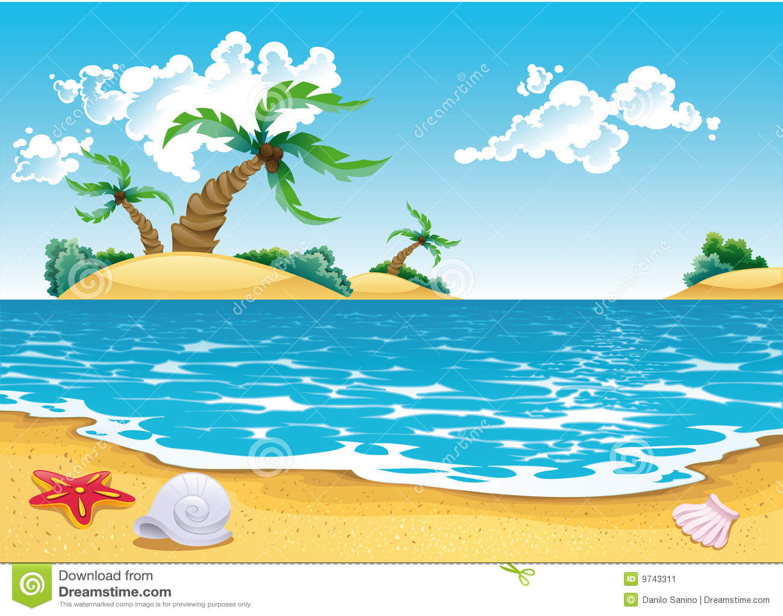Kreskówki seascape