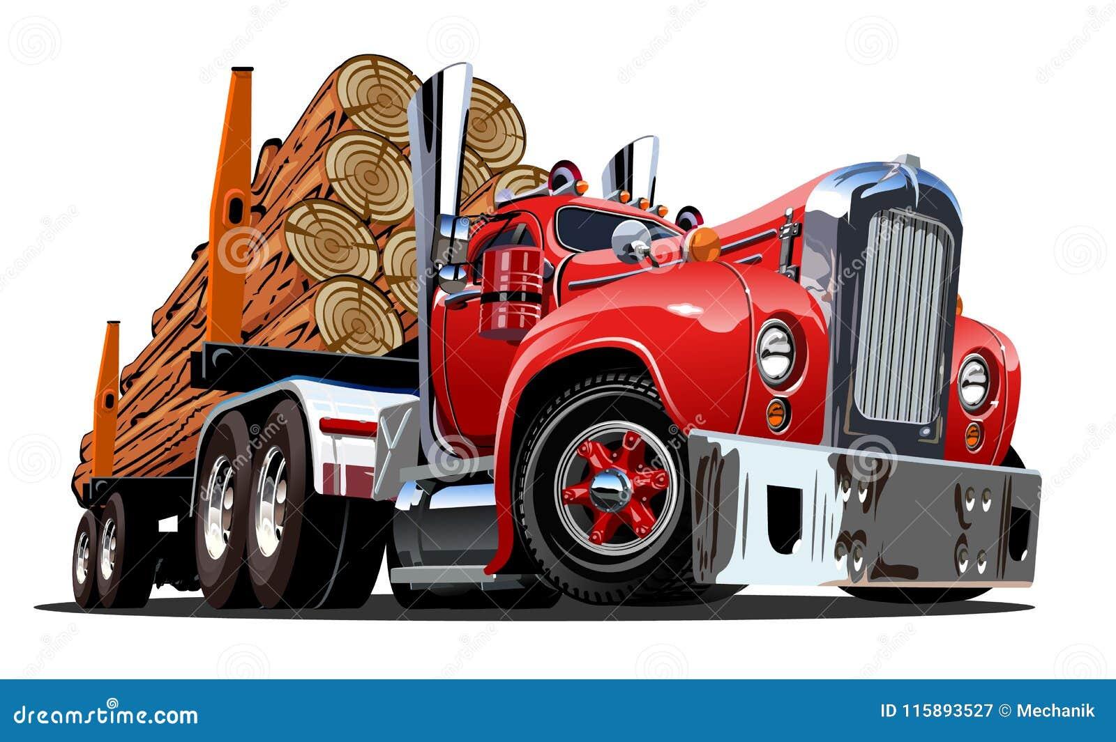 Kreskówki wyróbki retro ciężarówka