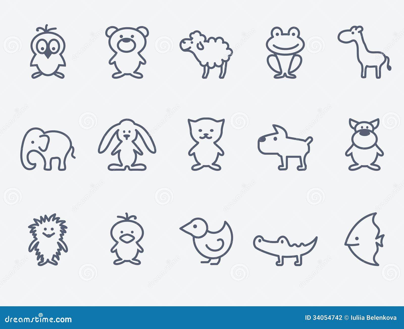 Kreskówki zwierzęcia ikony