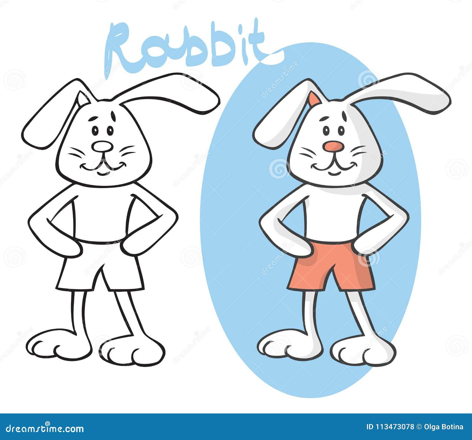 Kreskówki zwierzęcia królik