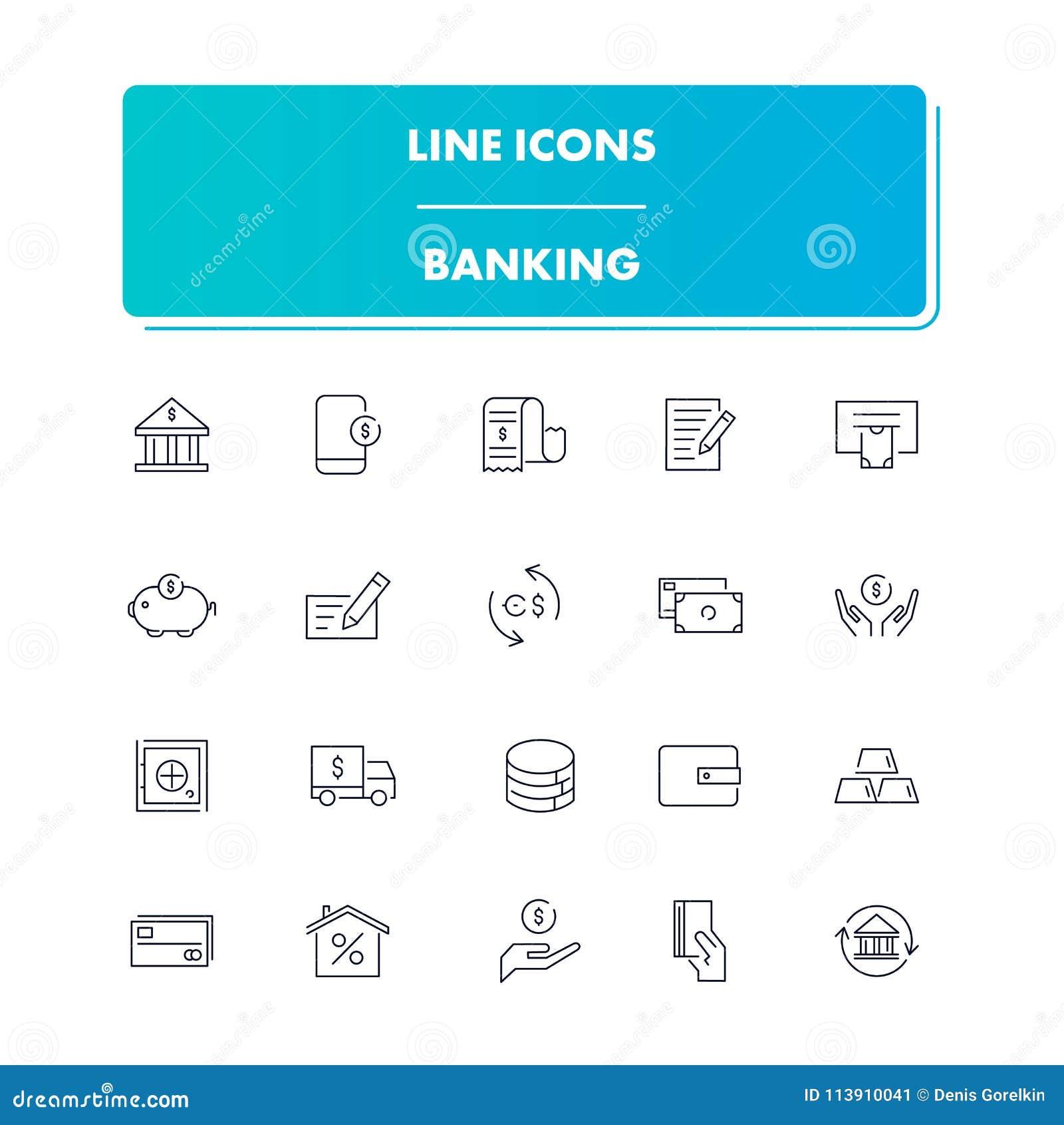 Kreskowe ikony ustawiać bankowość