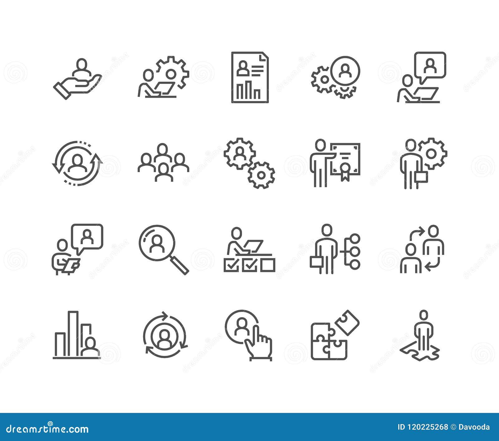 Kreskowe zarządzanie przedsiębiorstwem ikony