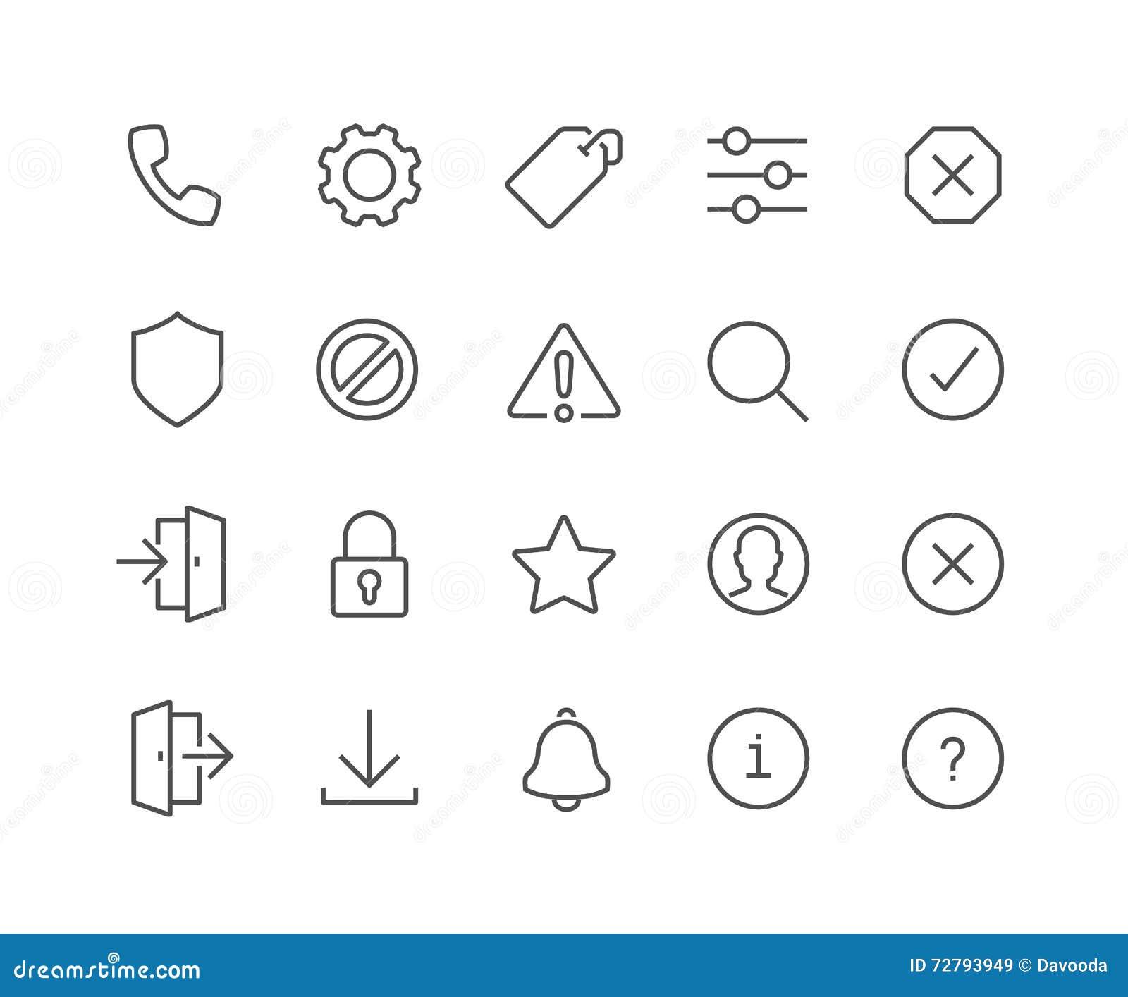 Kreskowego interfejsu ikony