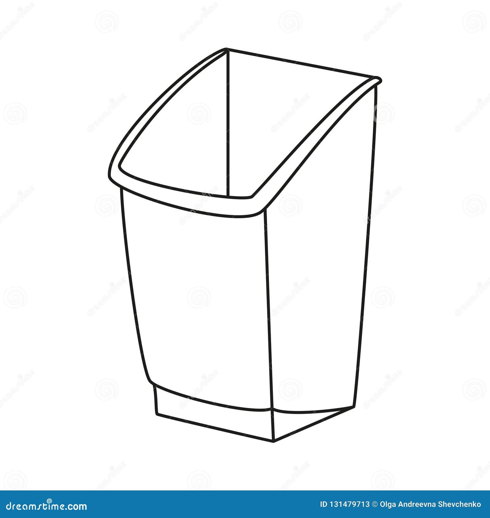 Kreskowej sztuki czarny i biały kosz na śmieci