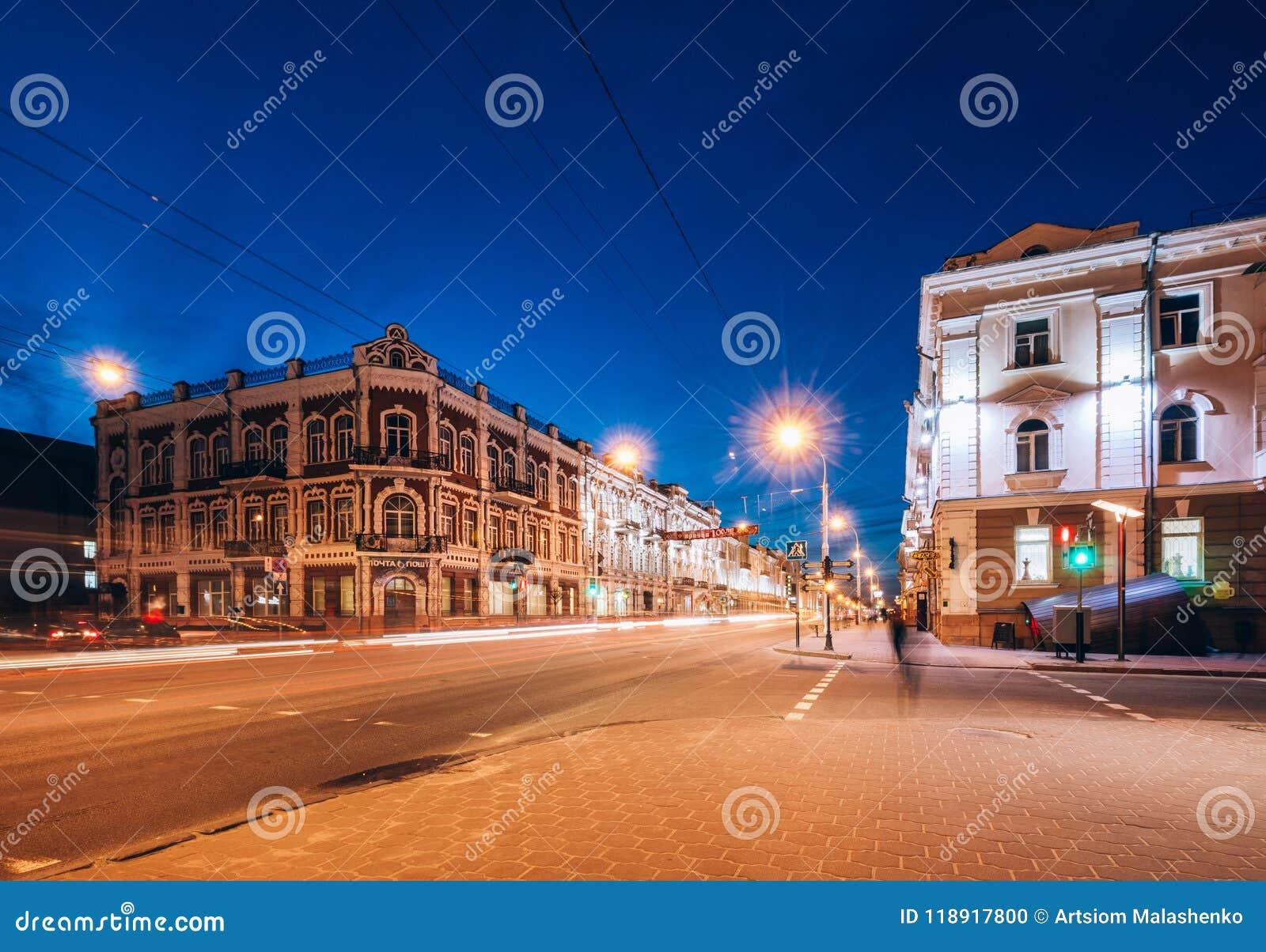 Kreuzungen mit den Gebäudebeiträgen auf es Gomel, Weißrussland