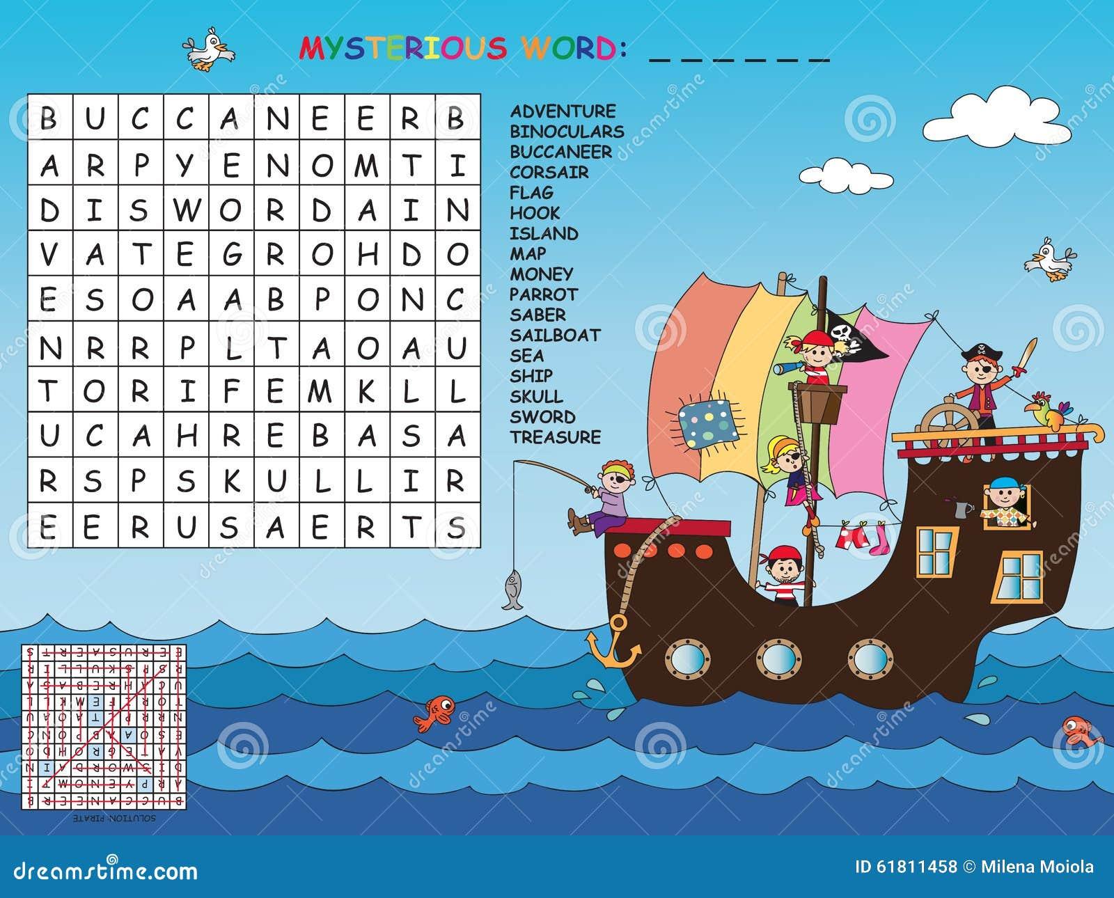 Kreuzworträtsel Stock Abbildung Illustration Von Abenteuer 61811458