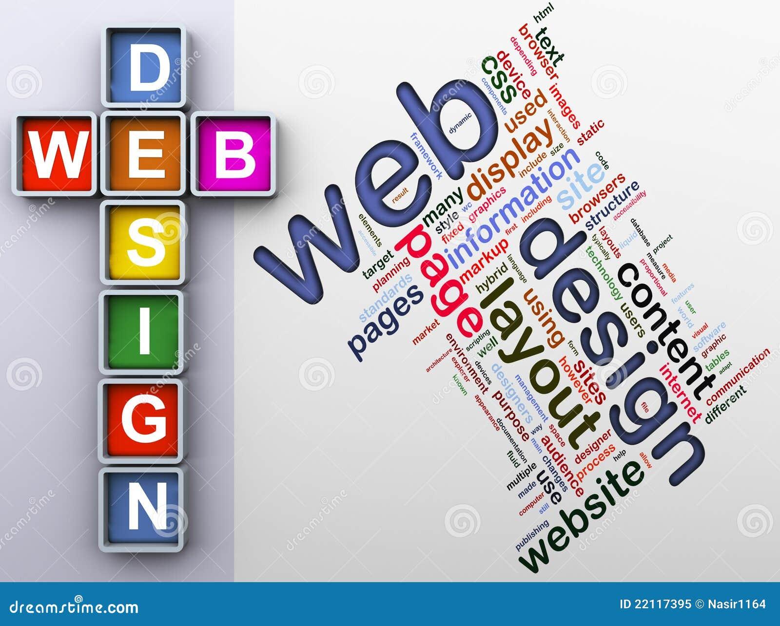 Kreuzworträtsel der Web-Auslegung