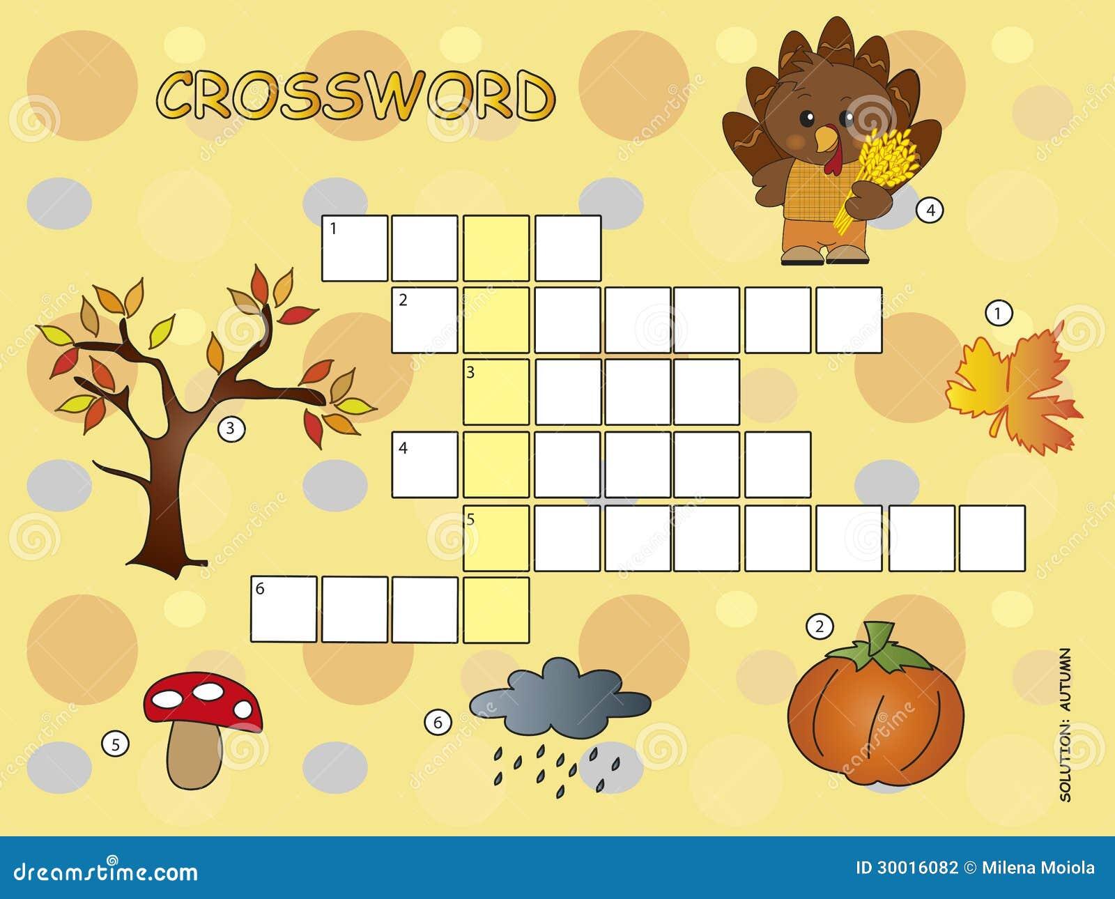 Kreuzworträtselspiel für kinder für herbst