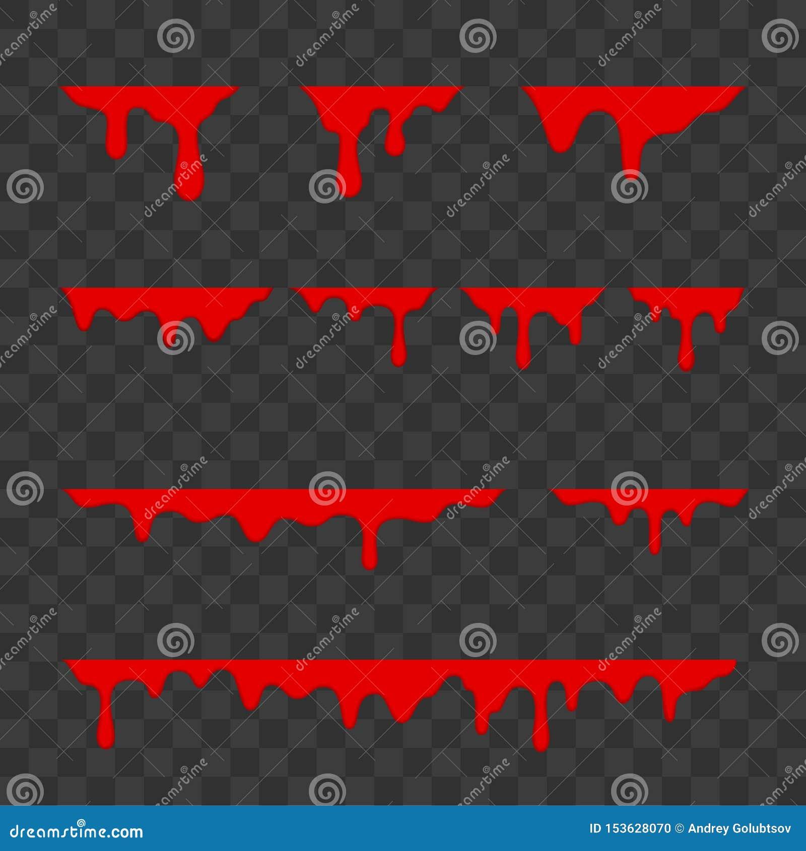 Krew krople, Halloweenowy dekoracji granic projekt Wektorowy ciekły krwionośny kapinosa splatter z spływanie kropli pluśnięciem