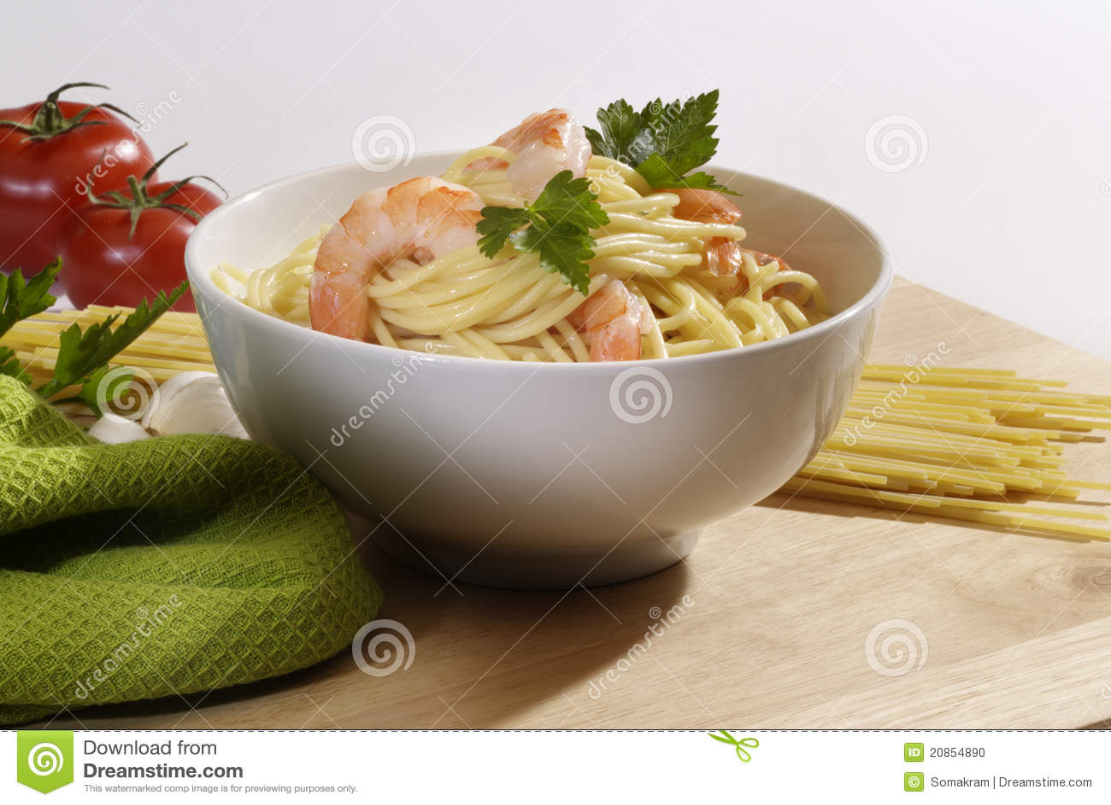 Krewetka spaghetti