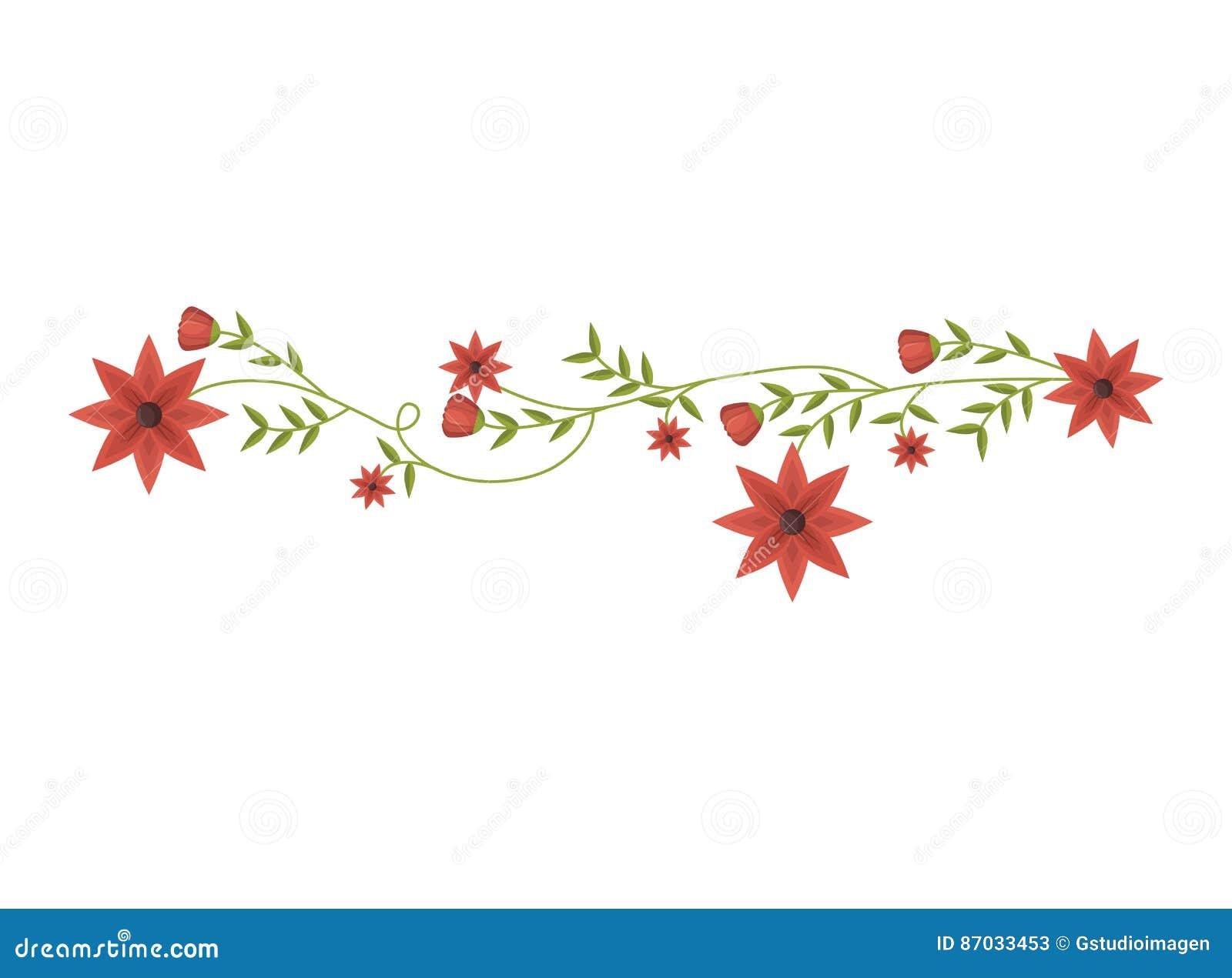 Kriechpflanze mit Rot blüht Blumenmuster