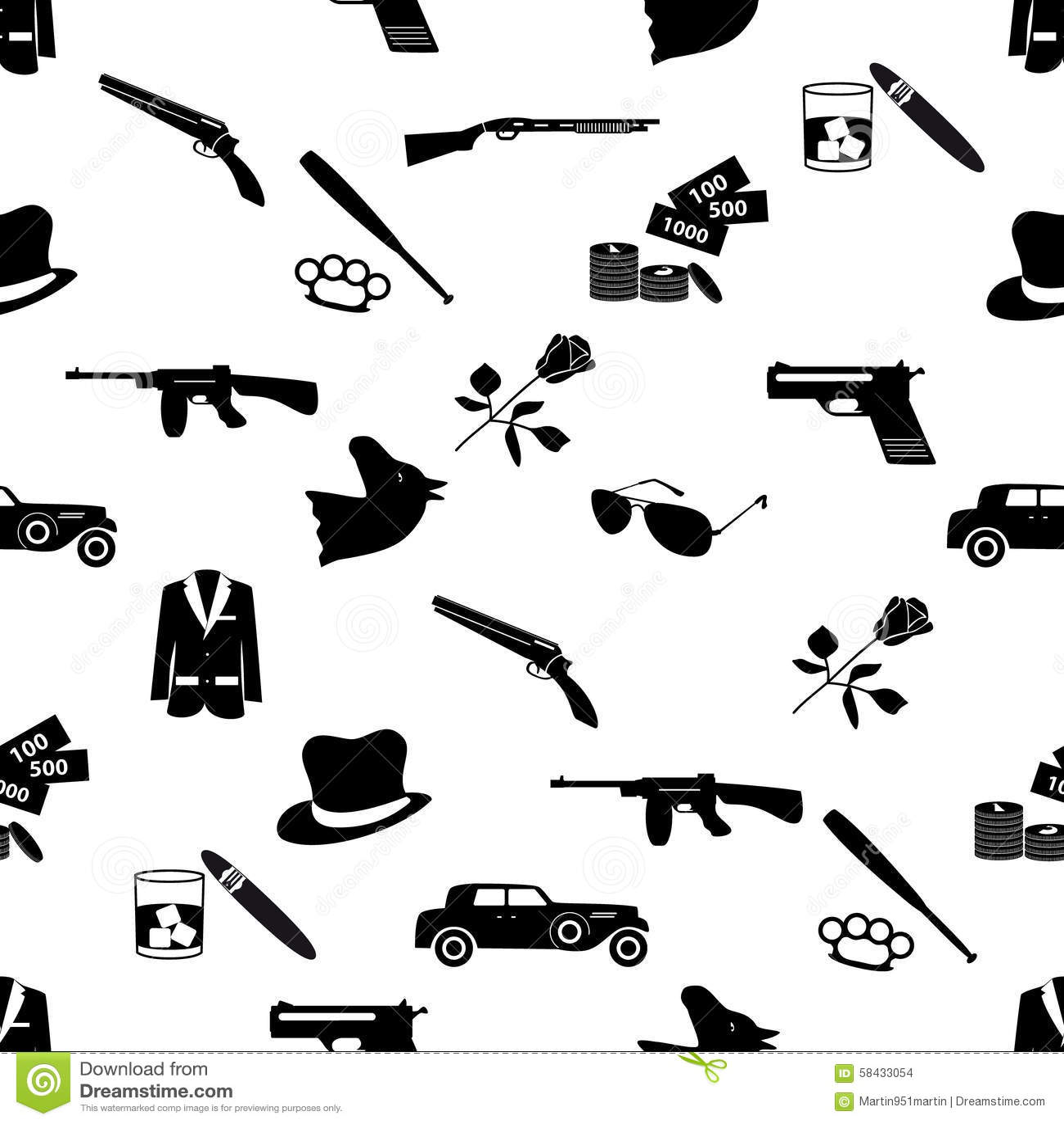 Italienische Mafia Symbole