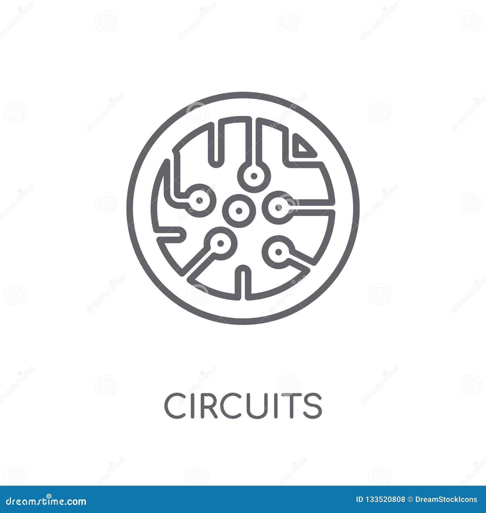 Kringen lineair pictogram Modern het embleemconcept van overzichtskringen op wh