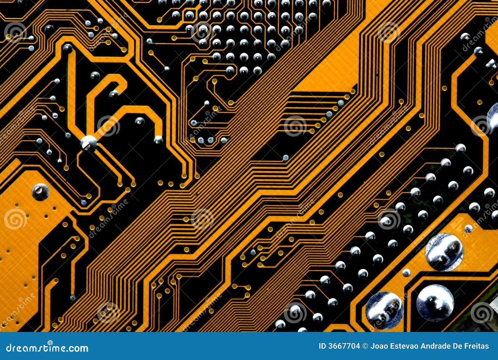 Kringen van motherboard