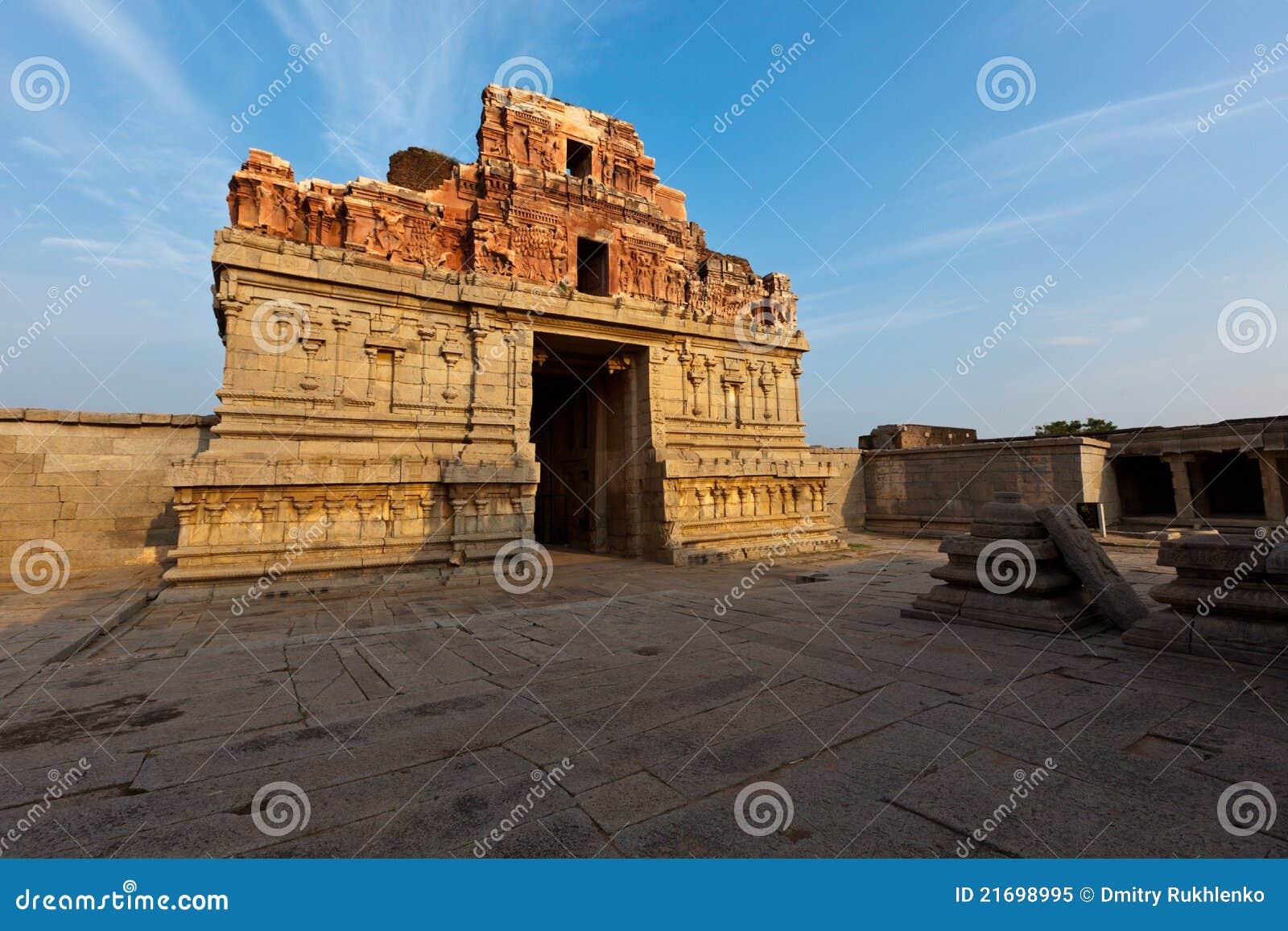 Krishna Tempel auf Sonnenuntergang