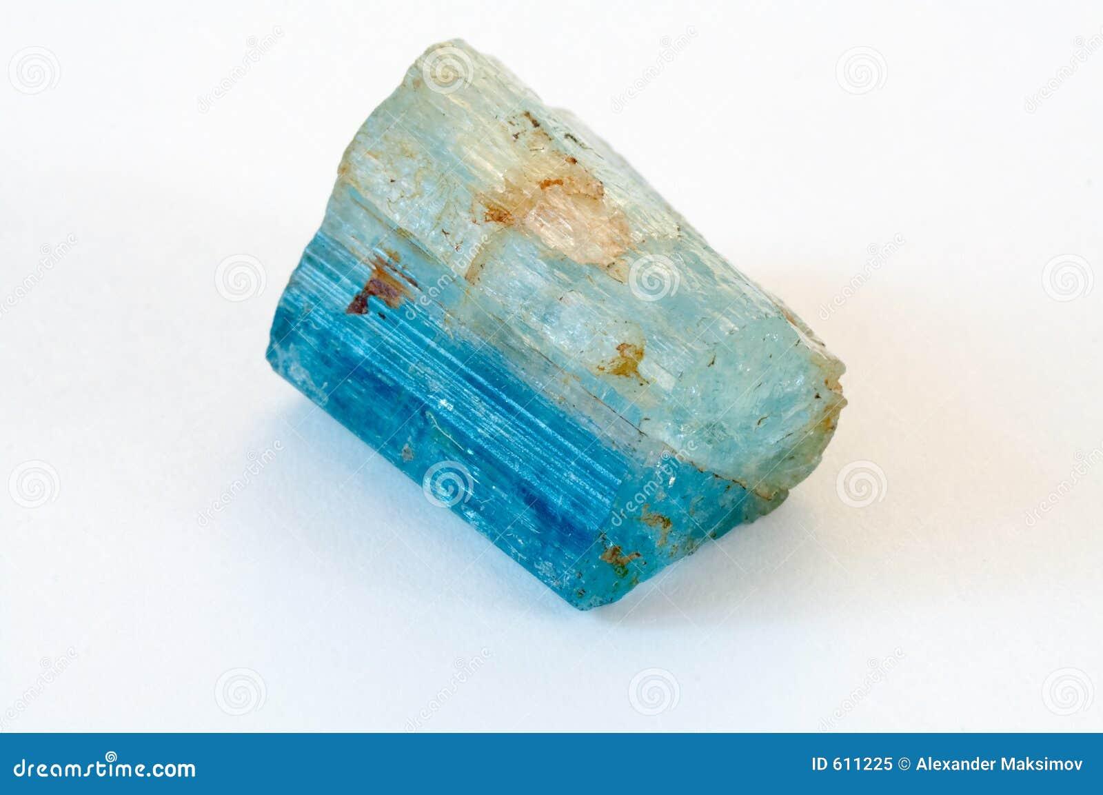 Kristal van aquamarijn