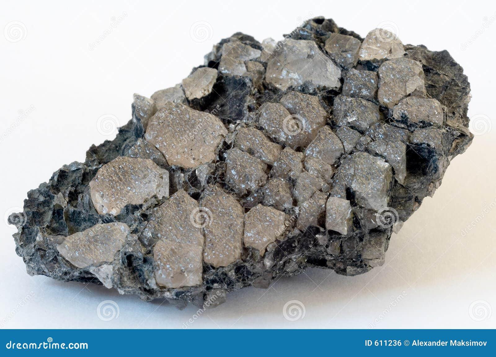 Kristallen van een topaas