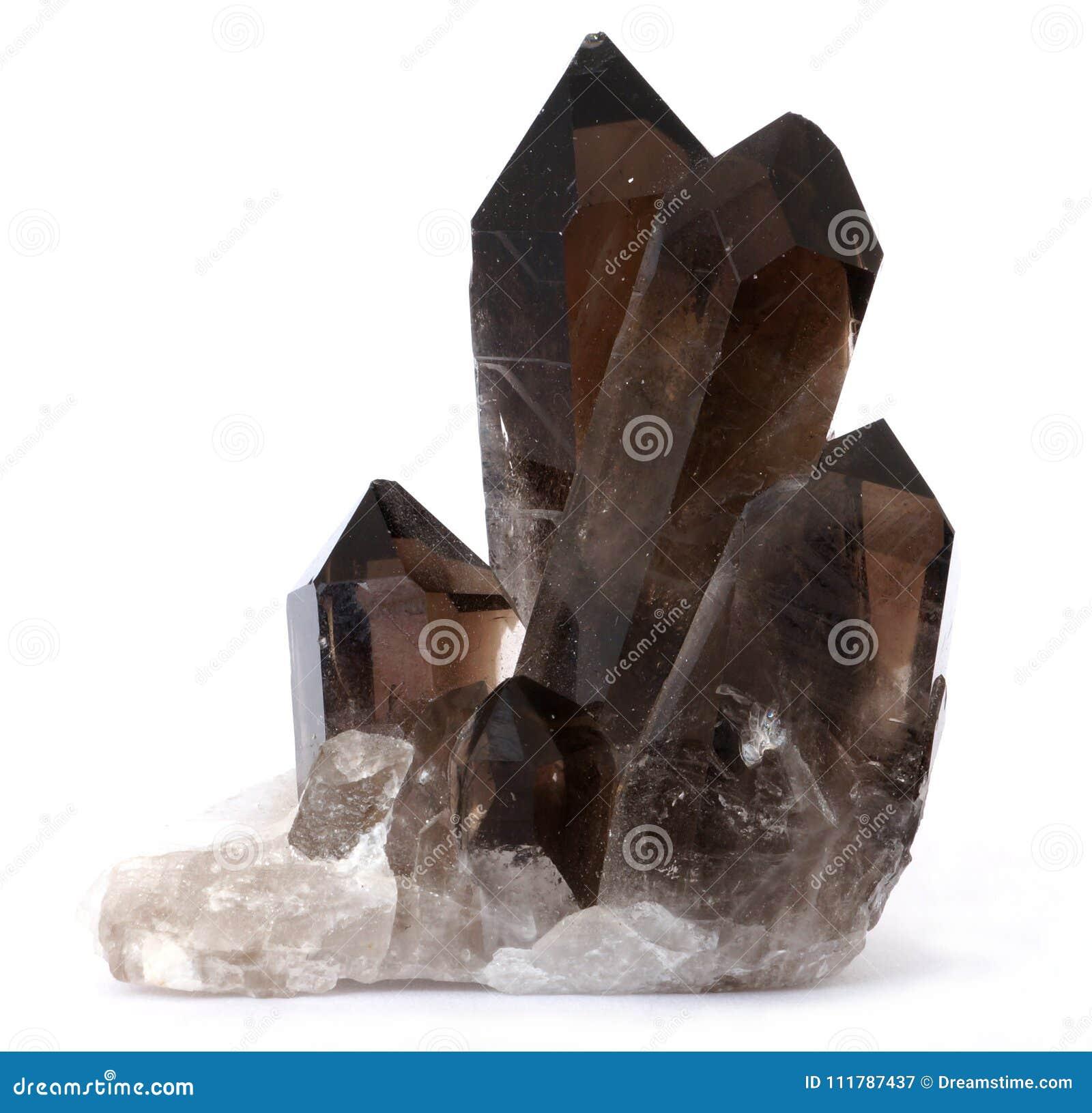 Kristaller för rökig kvarts för mörk brunt