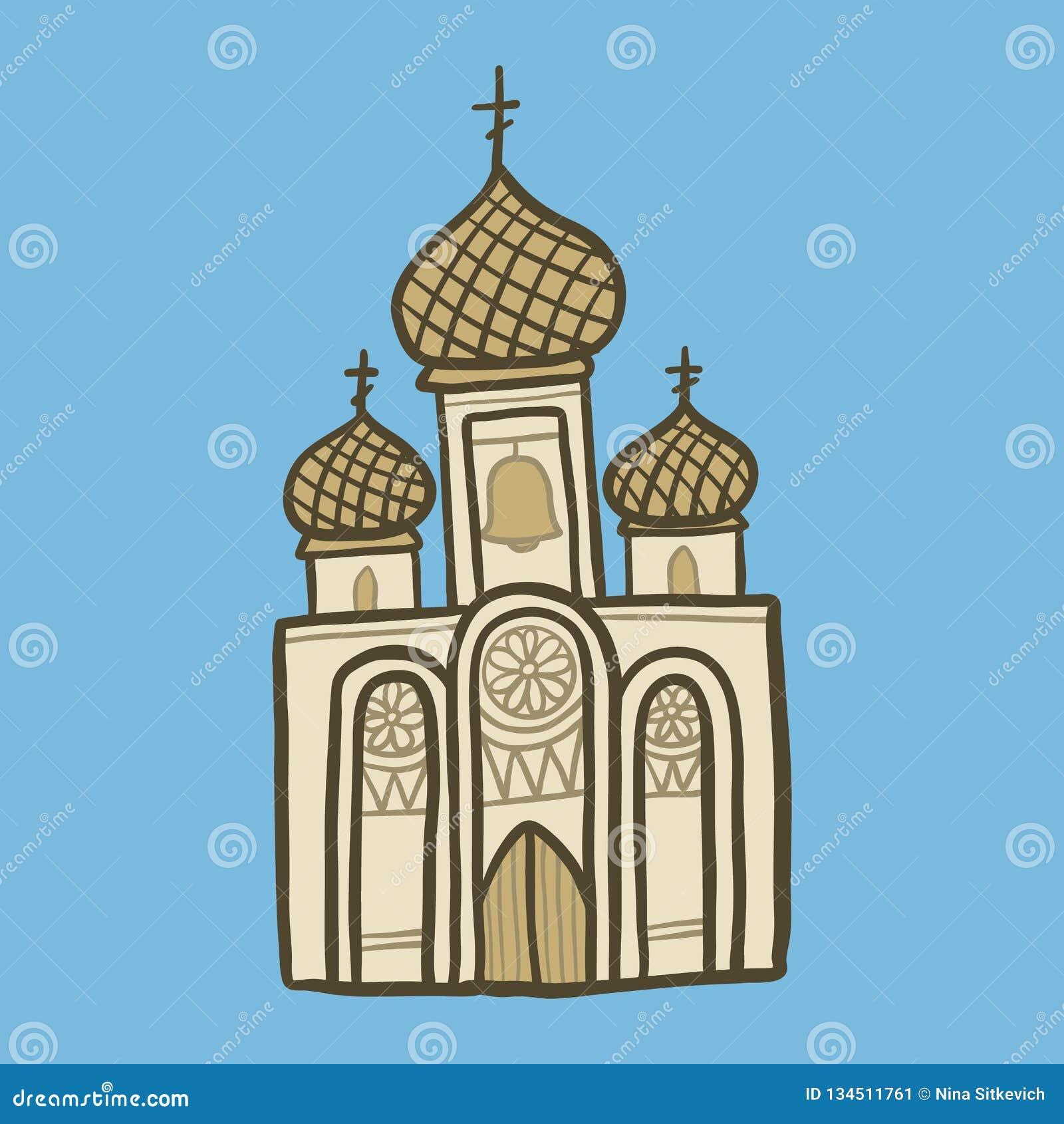 Kristen kyrklig symbol, utdragen stil för hand