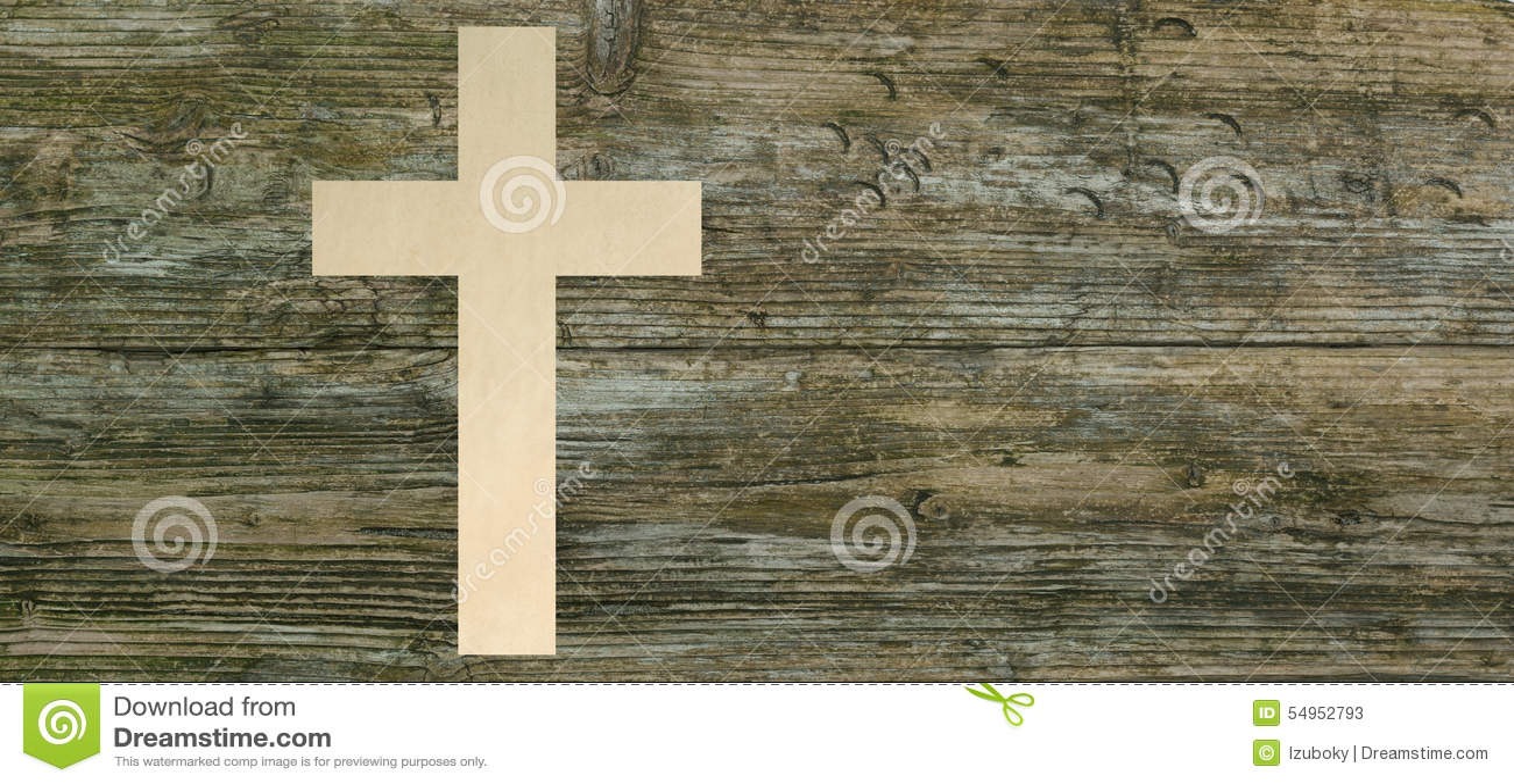 Kristenkorspapper klippte träbakgrundskristendomensymbol