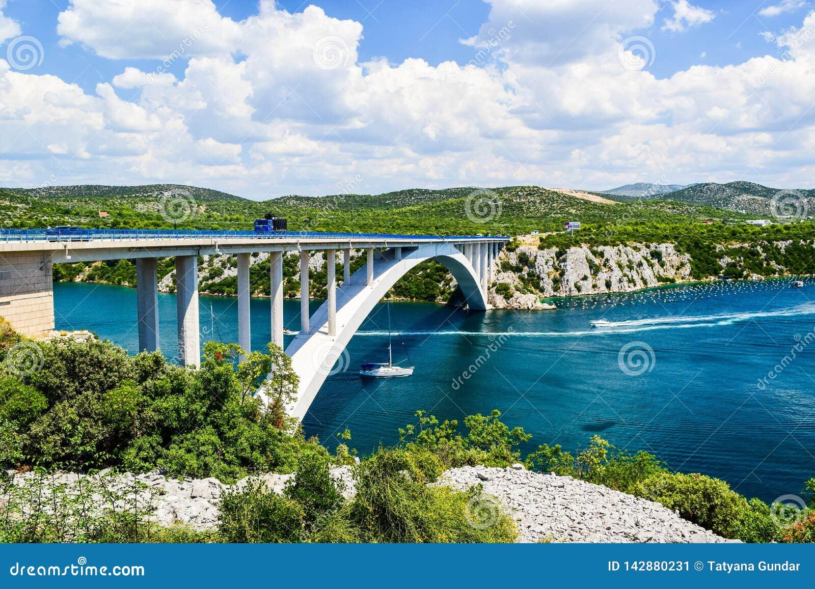 The Krka Bridge in Croatia