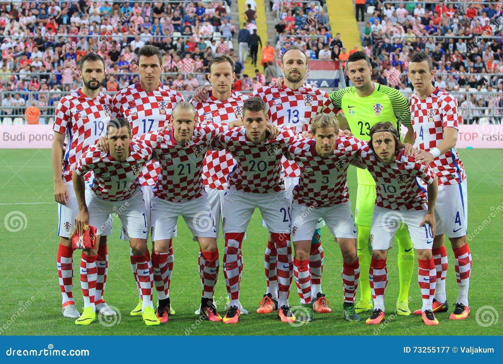 Download Kroatische Fusballnationalmannschaft Redaktionelles Stockfotografie Bild Von Ubereinstimmung Field