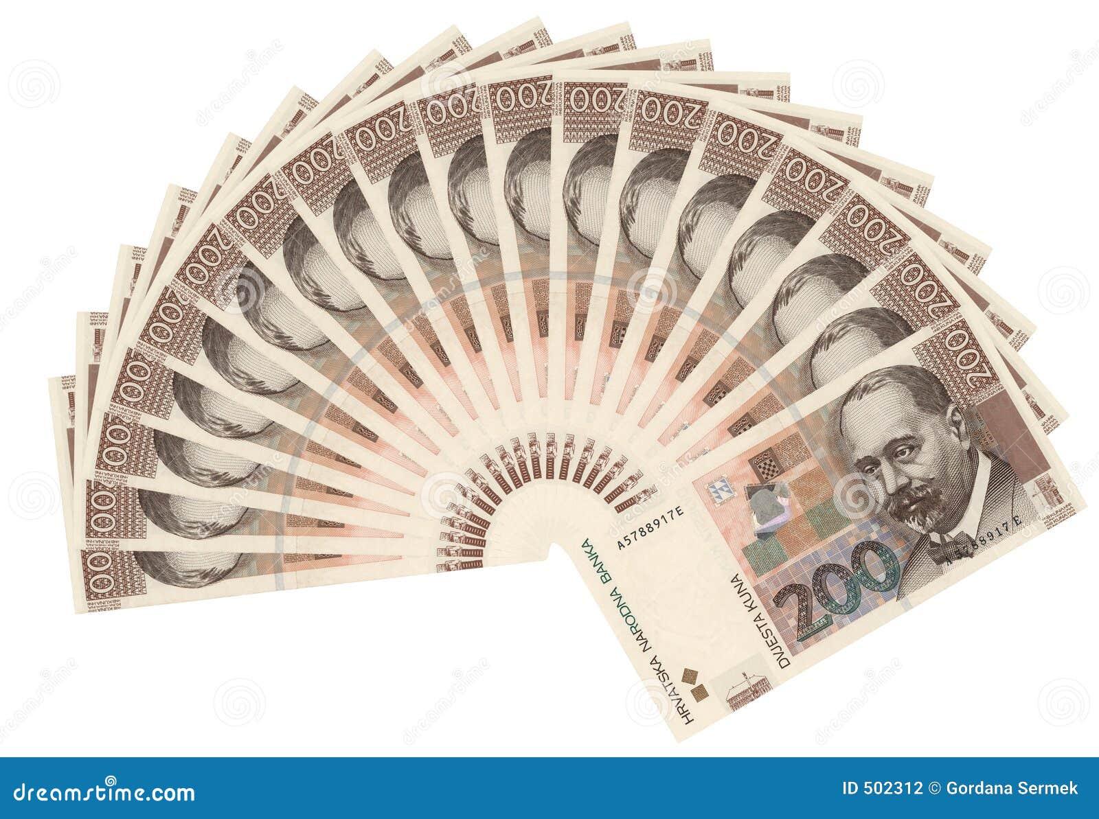Kroatisk valutakuna för 200 bills