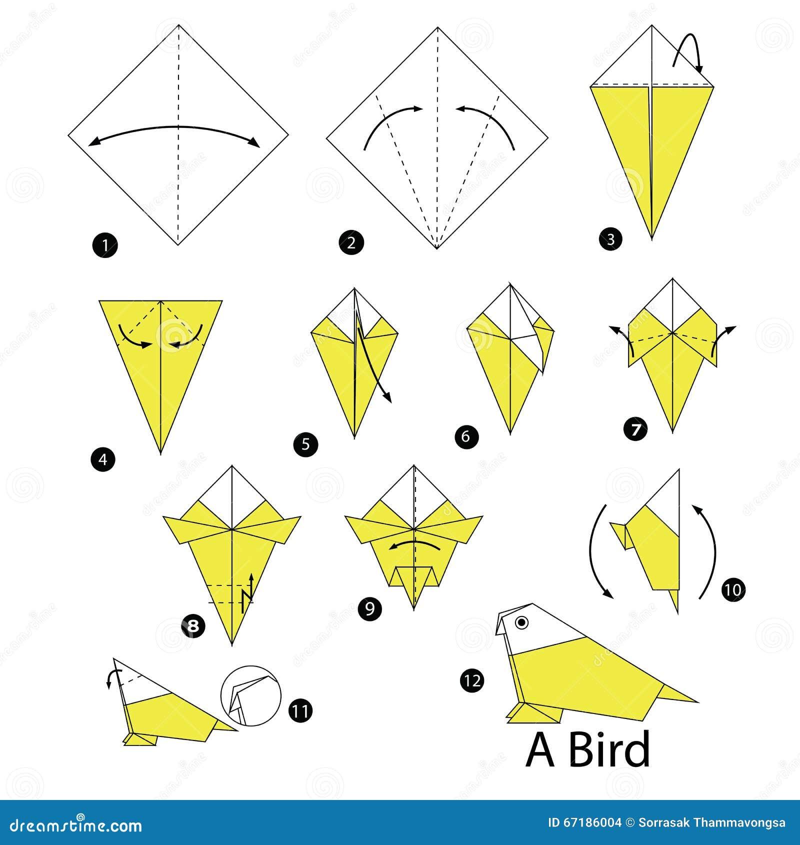 Krok Po Kroku Instrukcje Dlaczego Robić Origami Ptaka ... - photo#31