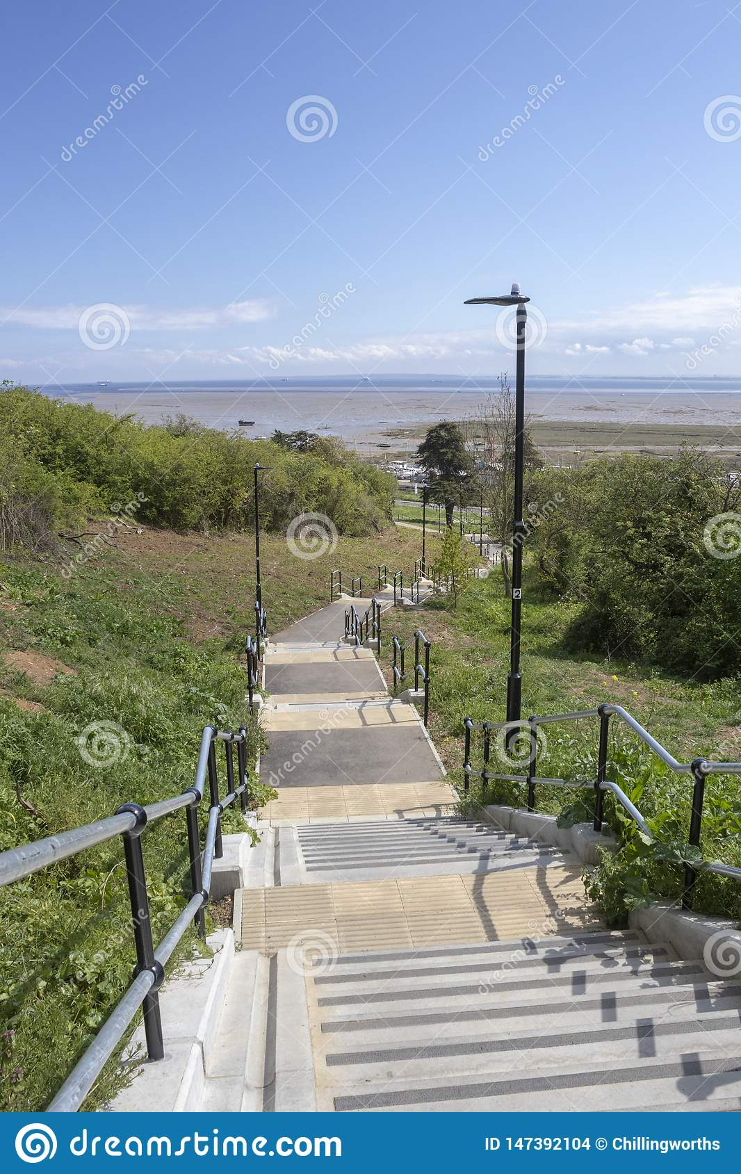 Kroki przy morzem, Essex, Anglia