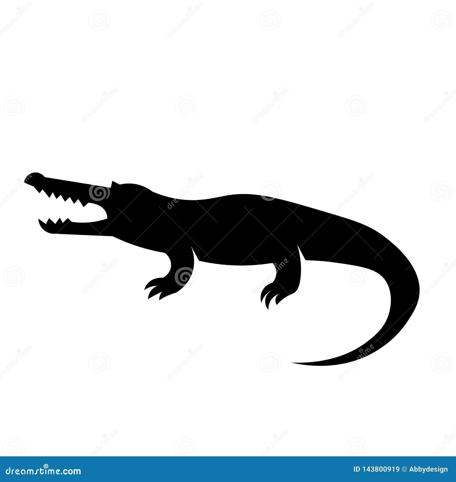 Krokodyl ikony wektor