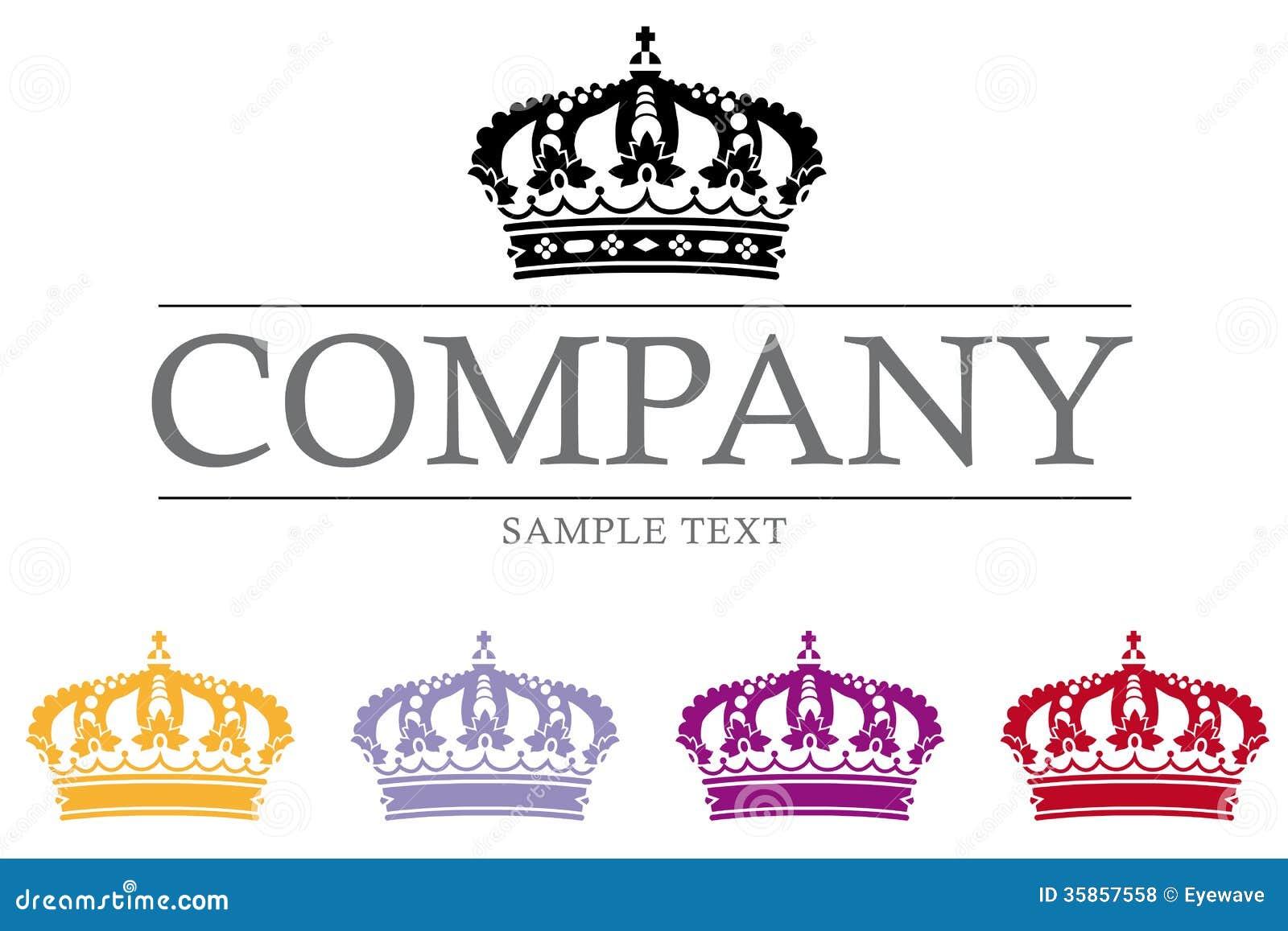 Krona Lyx F 246 Retag Logo Template Royaltyfria Foton Bild