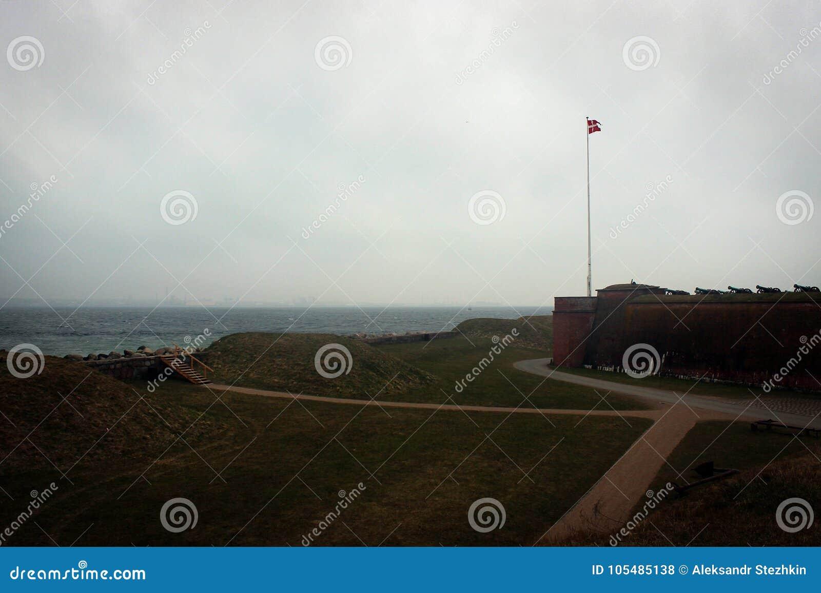 Kronborg kasztelu widok w Helsingor, Dani