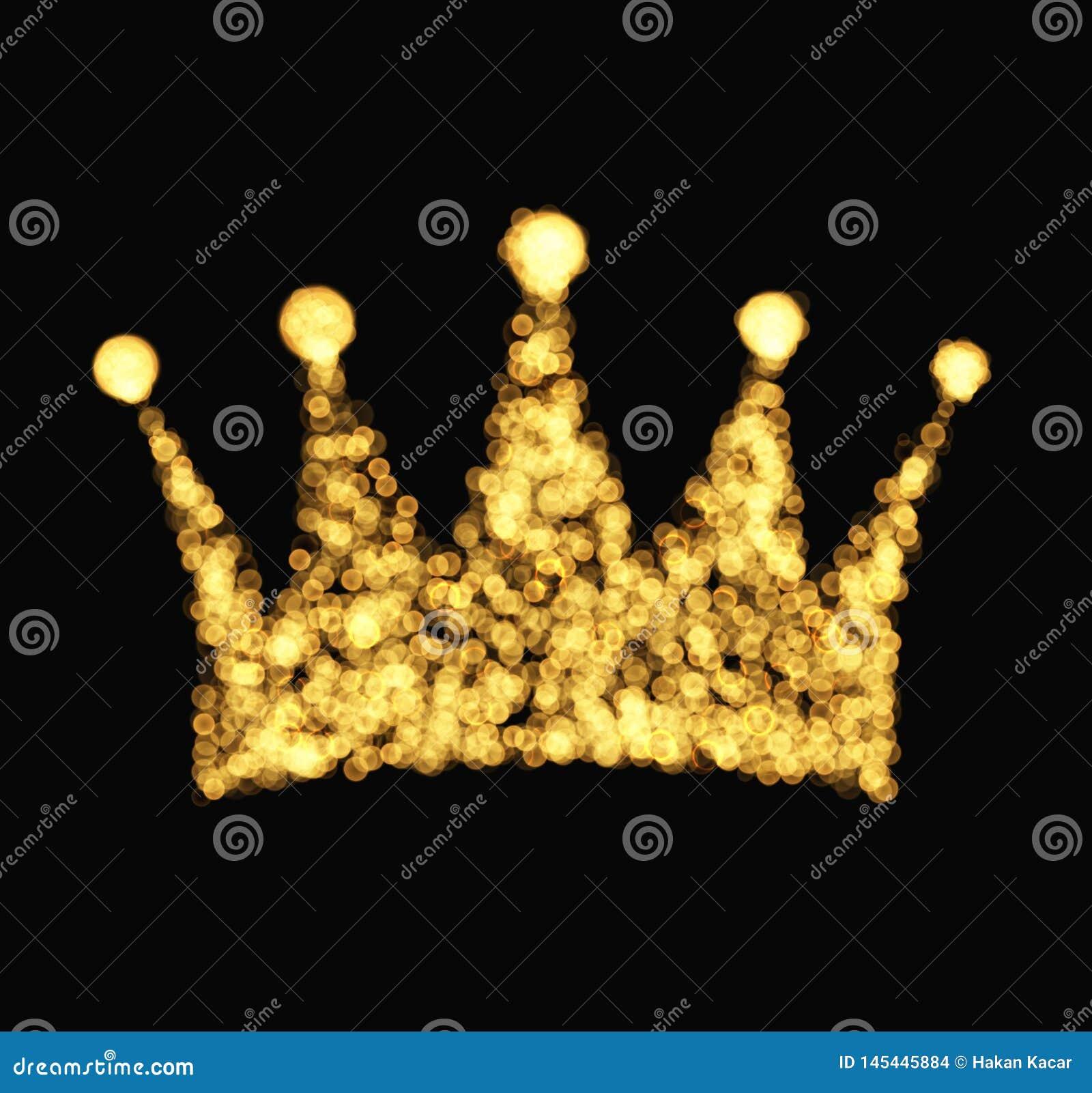 Kroon met de luxe uitstekende stijl van stralenillustraties