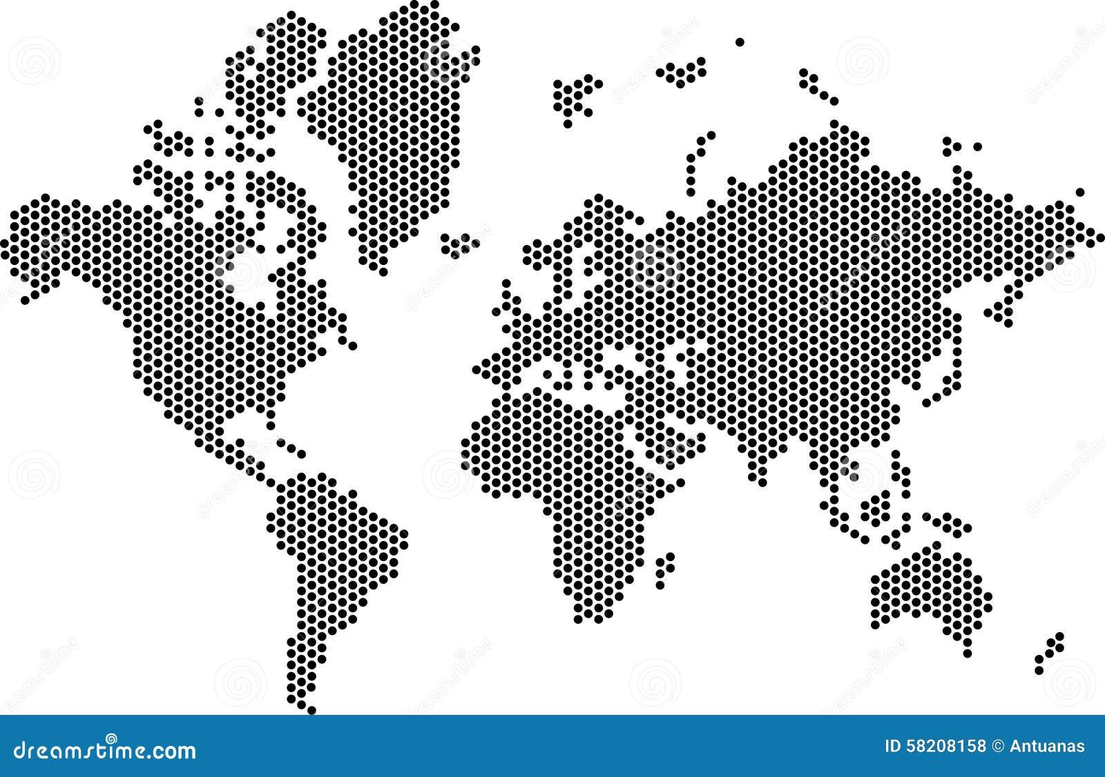 Kropkowany mapa świata
