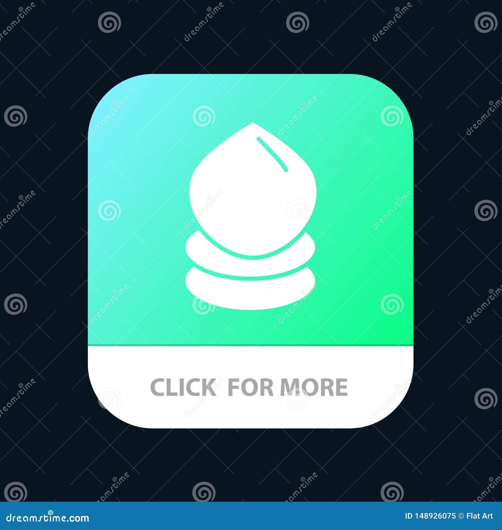 Kropla, Eco, ekologia, środowiska App Mobilny guzik Android i IOS glifu wersja