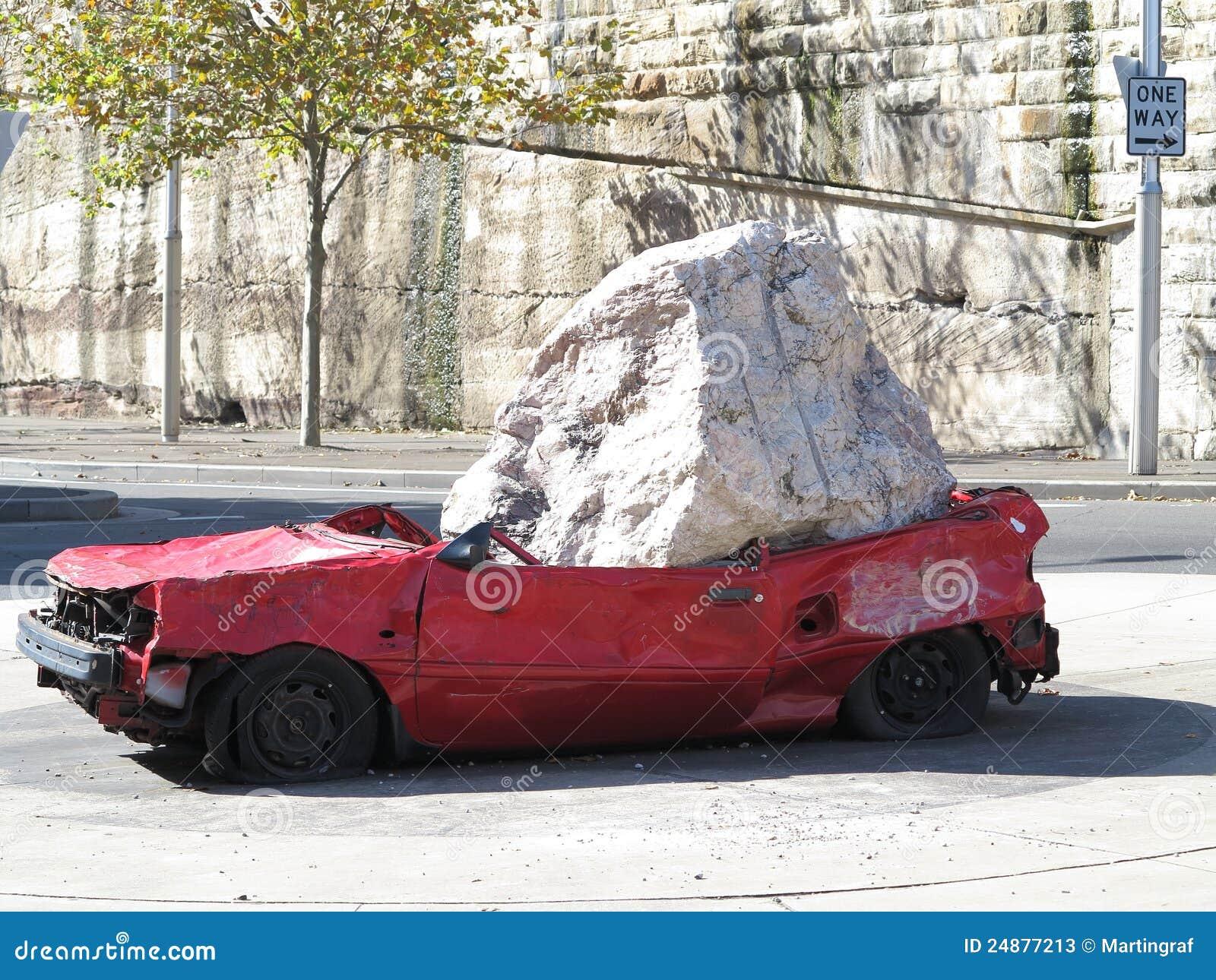 Krossad rock för bil