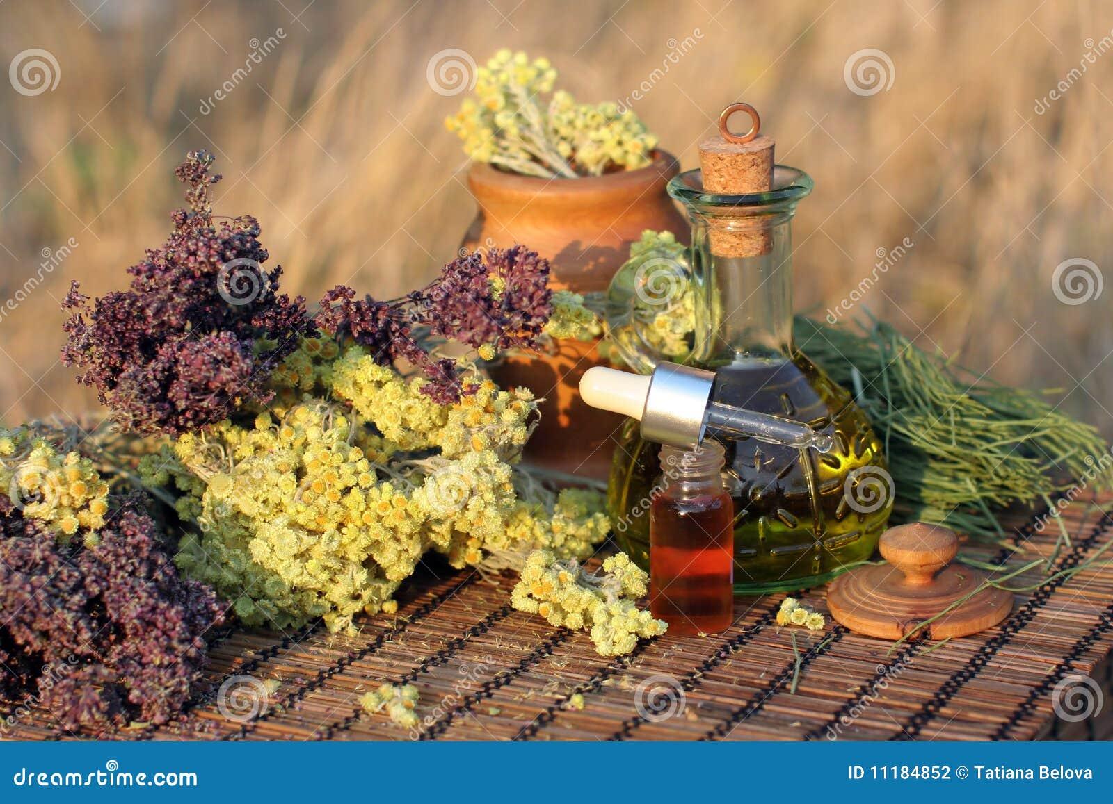 Kruiden, tint en essentiële olie