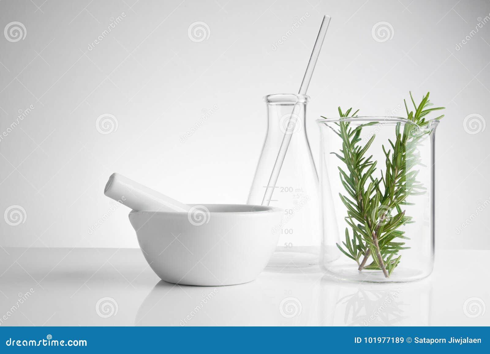 Kruidengeneeskunde natuurlijk organisch en wetenschappelijk glaswerk