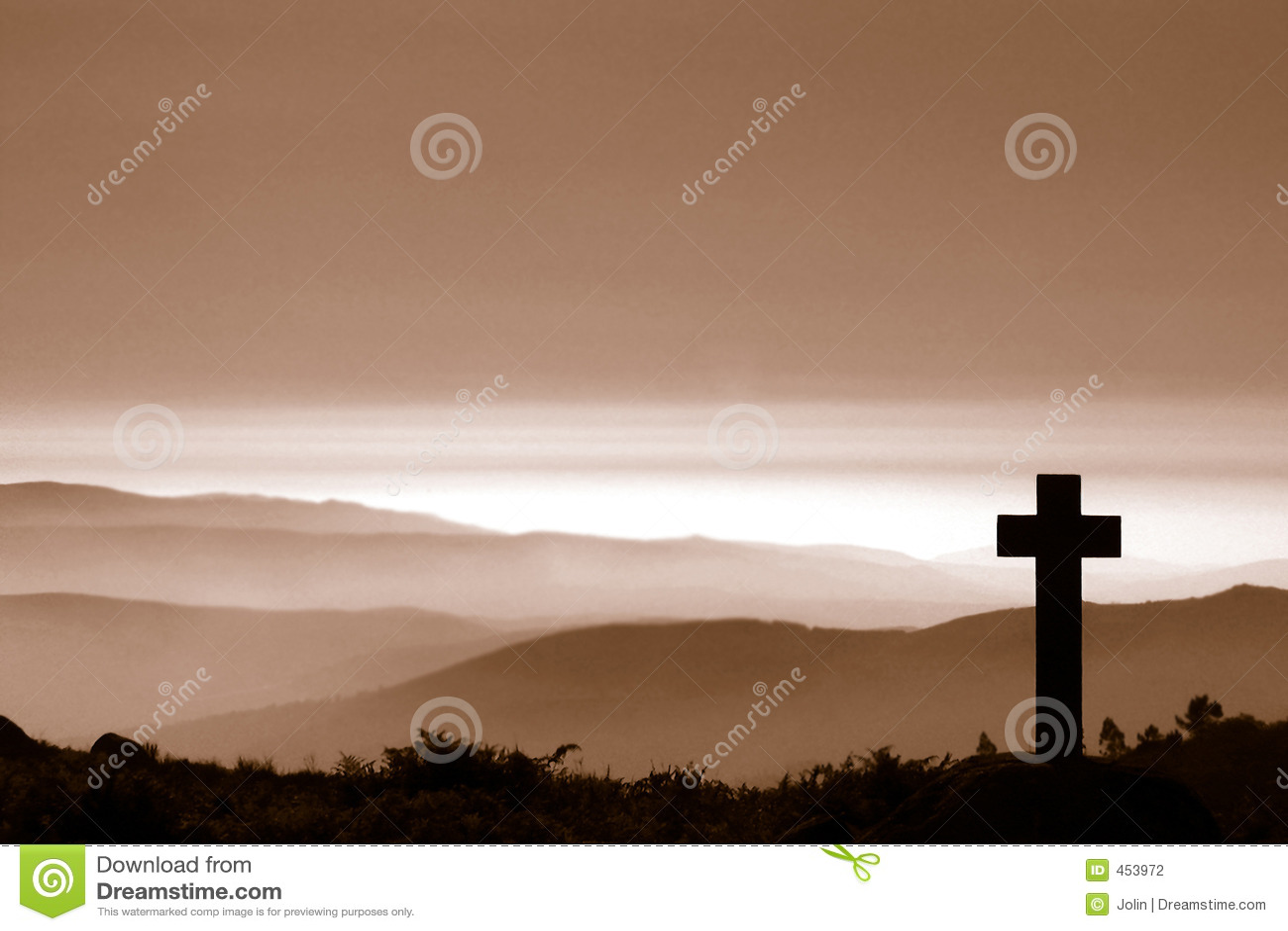 Kruis in berg
