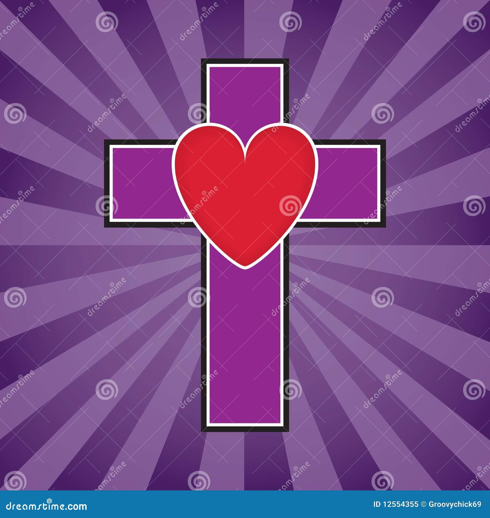 Kruis en de Illustratie van het Hart